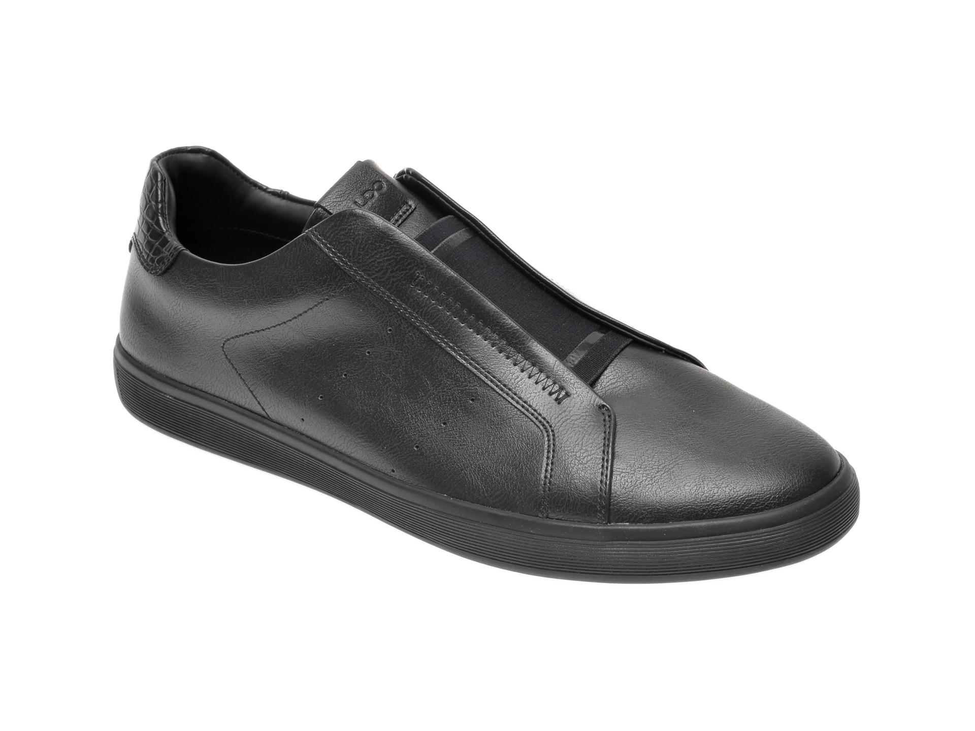 Pantofi ALDO negri, Boomerang001, din piele ecologica imagine