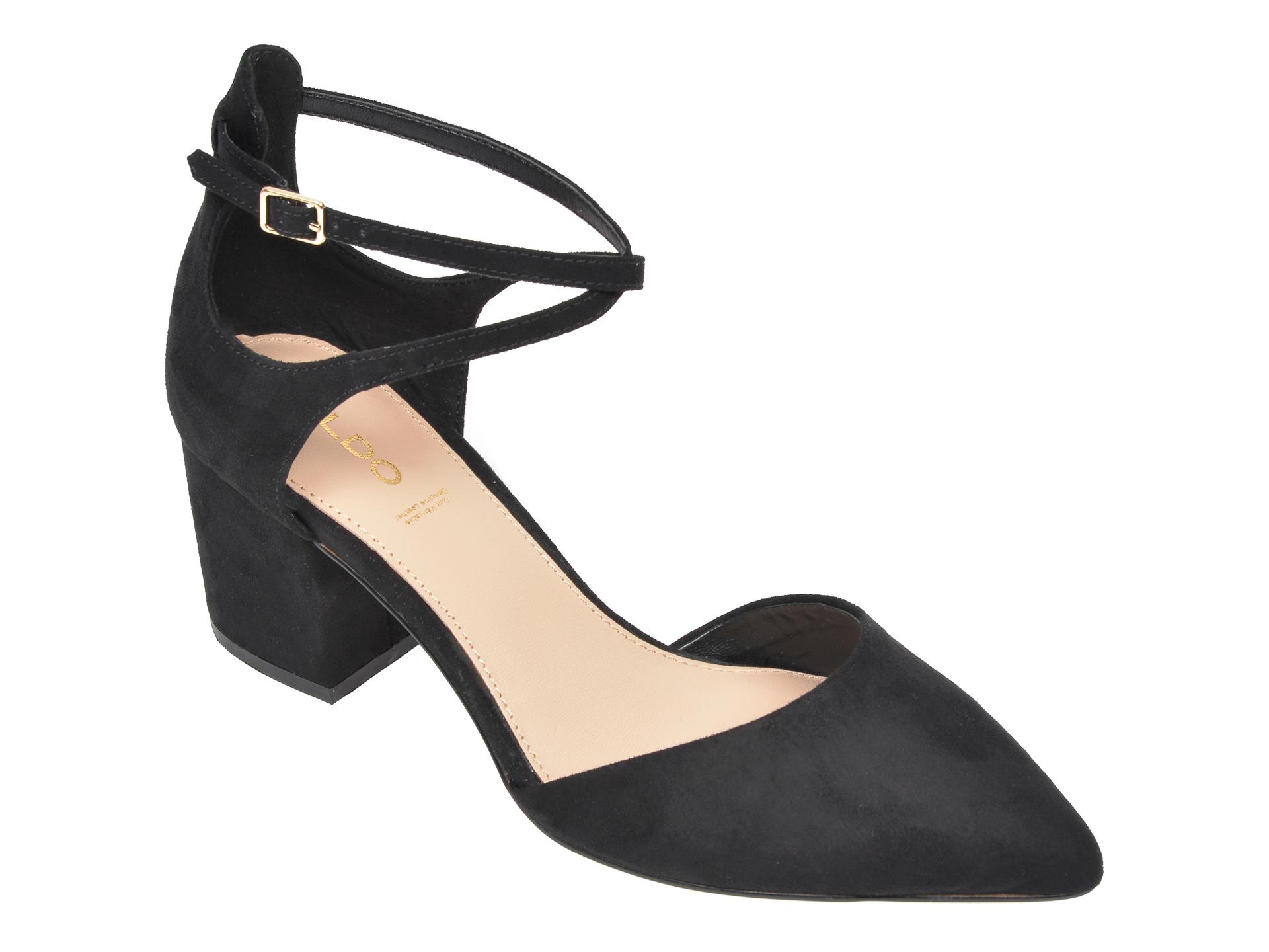 Pantofi ALDO negri, Brookshear001, din material textil