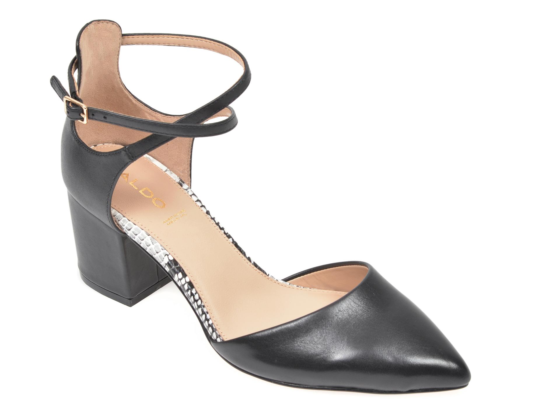 Pantofi ALDO negri, Brookshear007, din piele naturala imagine