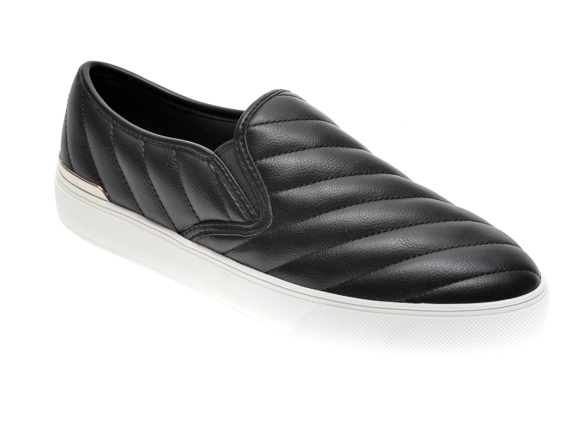 Pantofi ALDO negri, Chevron001, din piele ecologica imagine