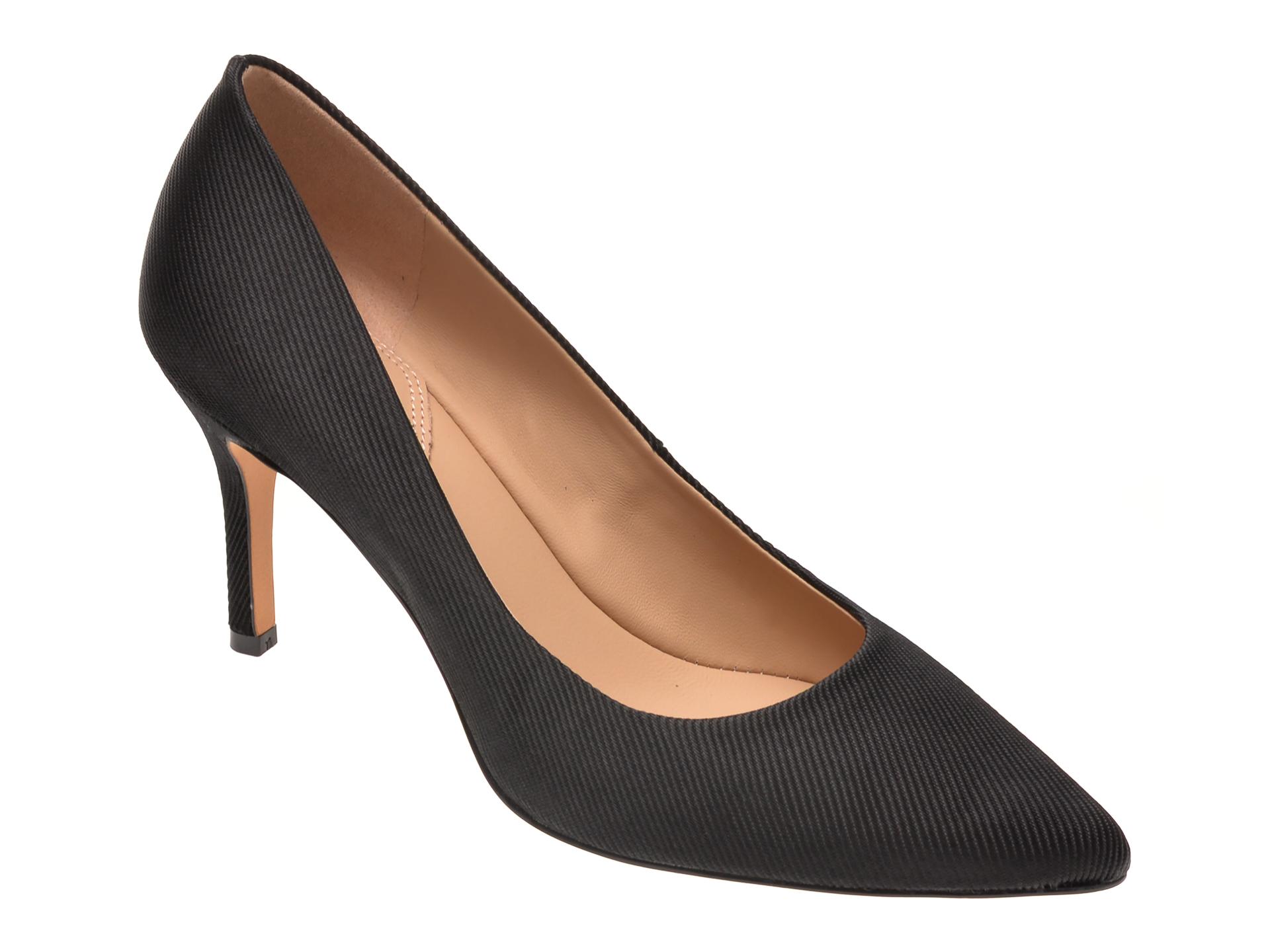 Pantofi ALDO negri, Coronitiflex001, din material textil