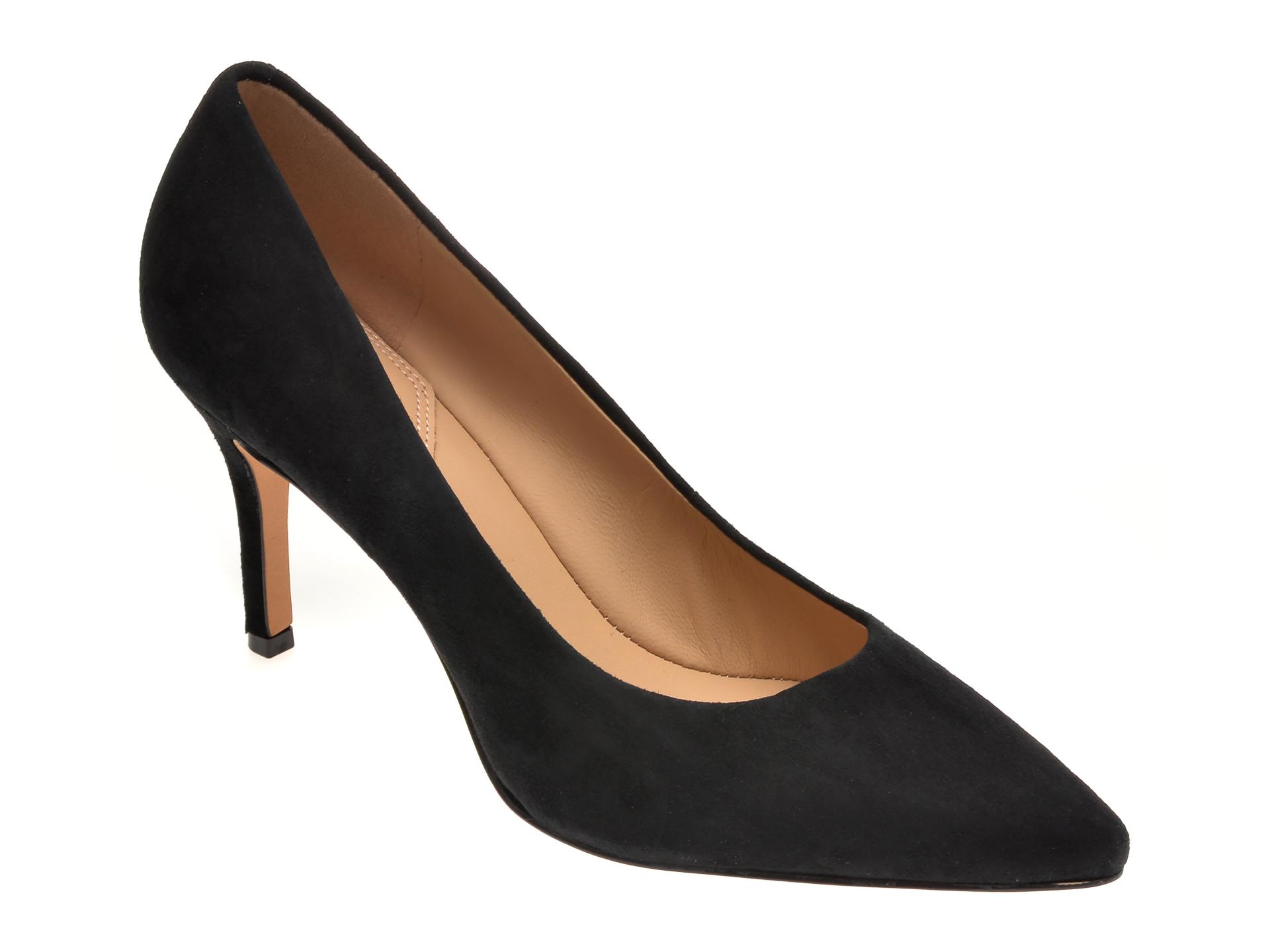 Pantofi ALDO negri, Coronitiflex001, din piele intoarsa imagine otter.ro