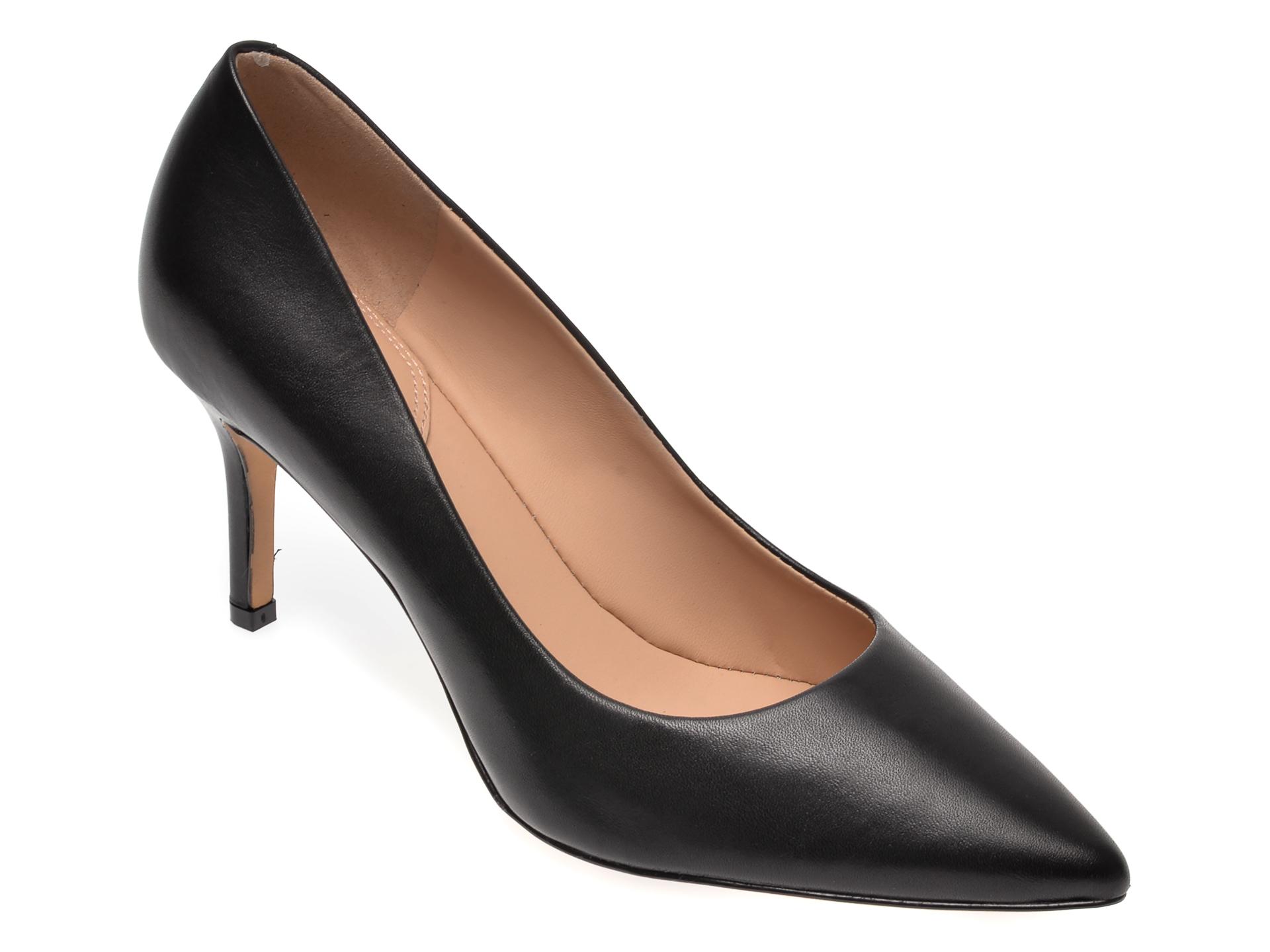 Pantofi ALDO negri, Coronitiflex001, din piele naturala imagine