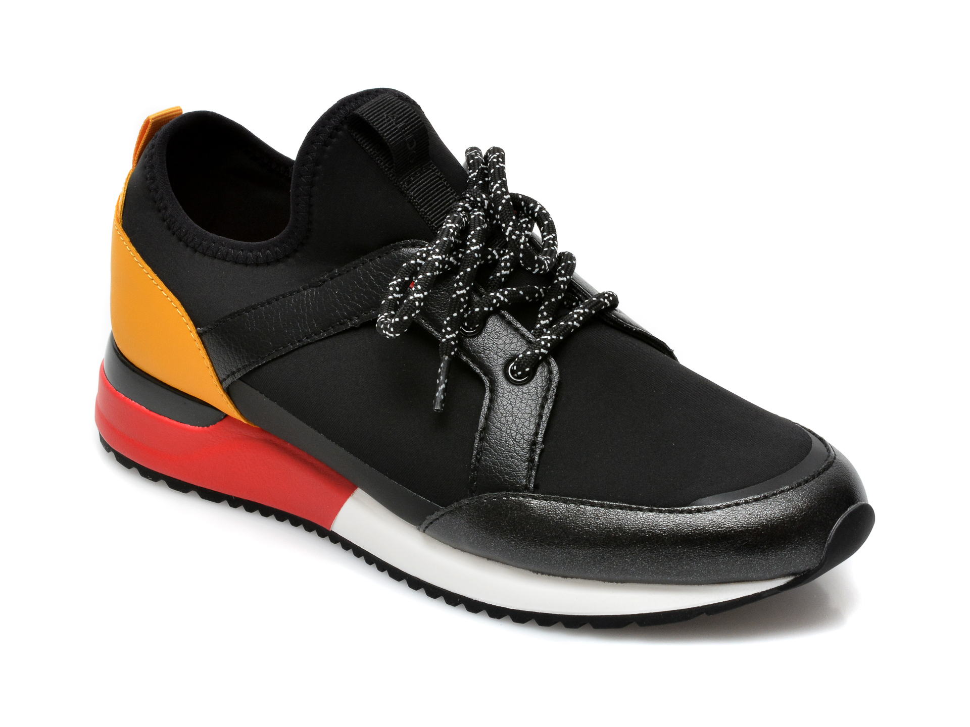 Pantofi ALDO negri, Crerralle001, din material textil si piele ecologica imagine otter.ro 2021
