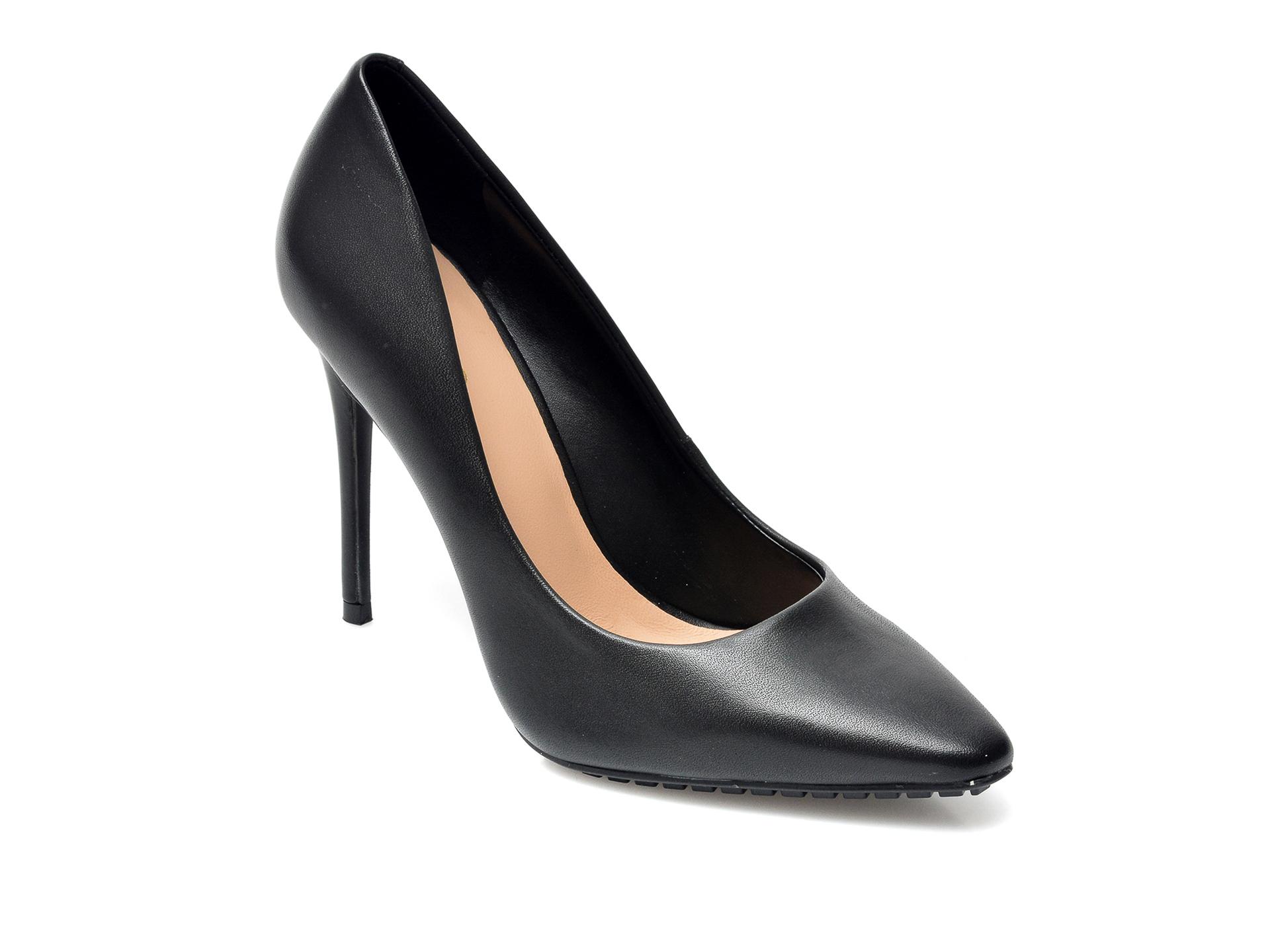 Pantofi ALDO negri, Durbell001, din piele naturala imagine otter.ro