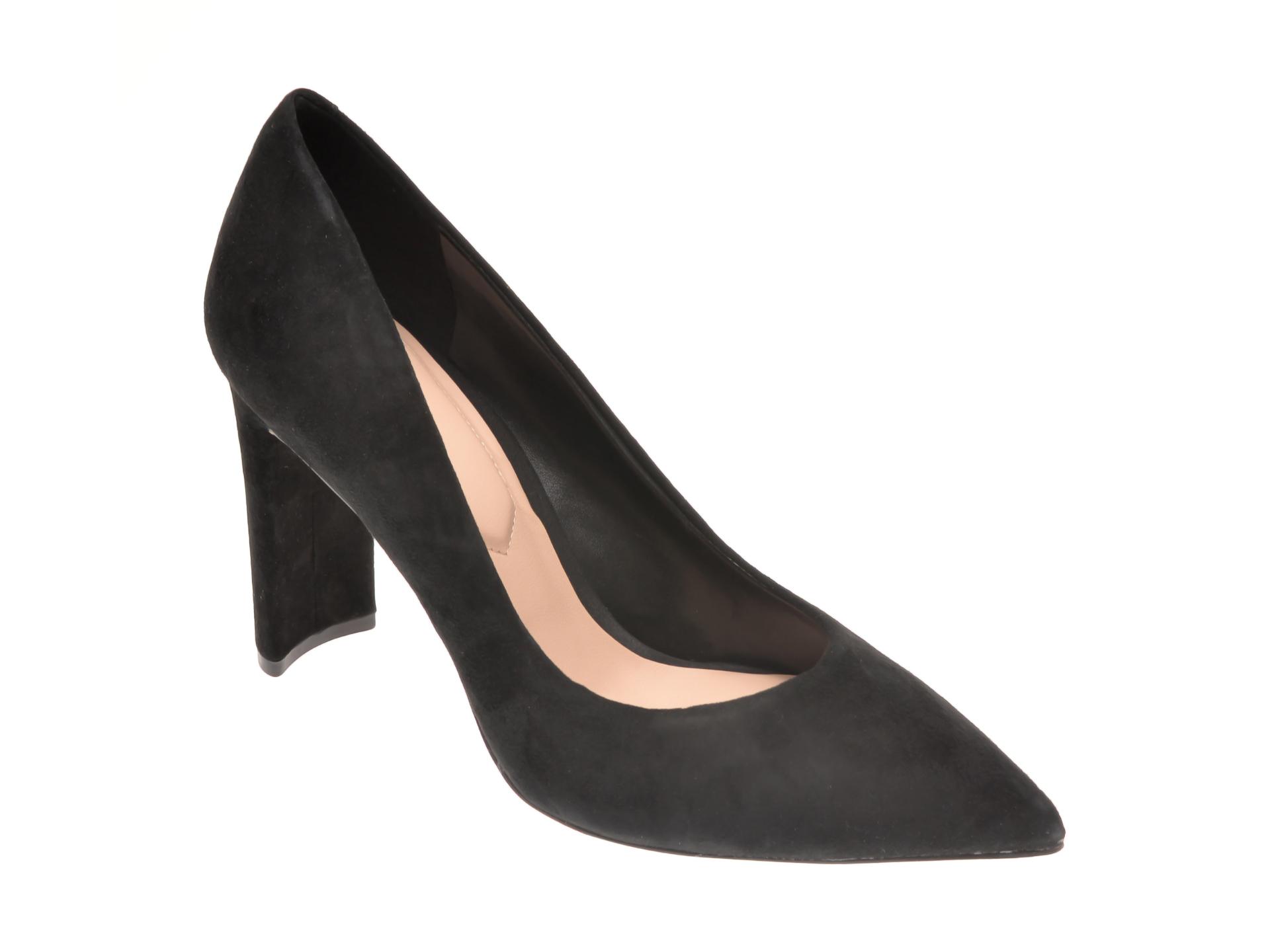 Pantofi ALDO negri, Febriclya001, din piele intoarsa imagine otter.ro 2021