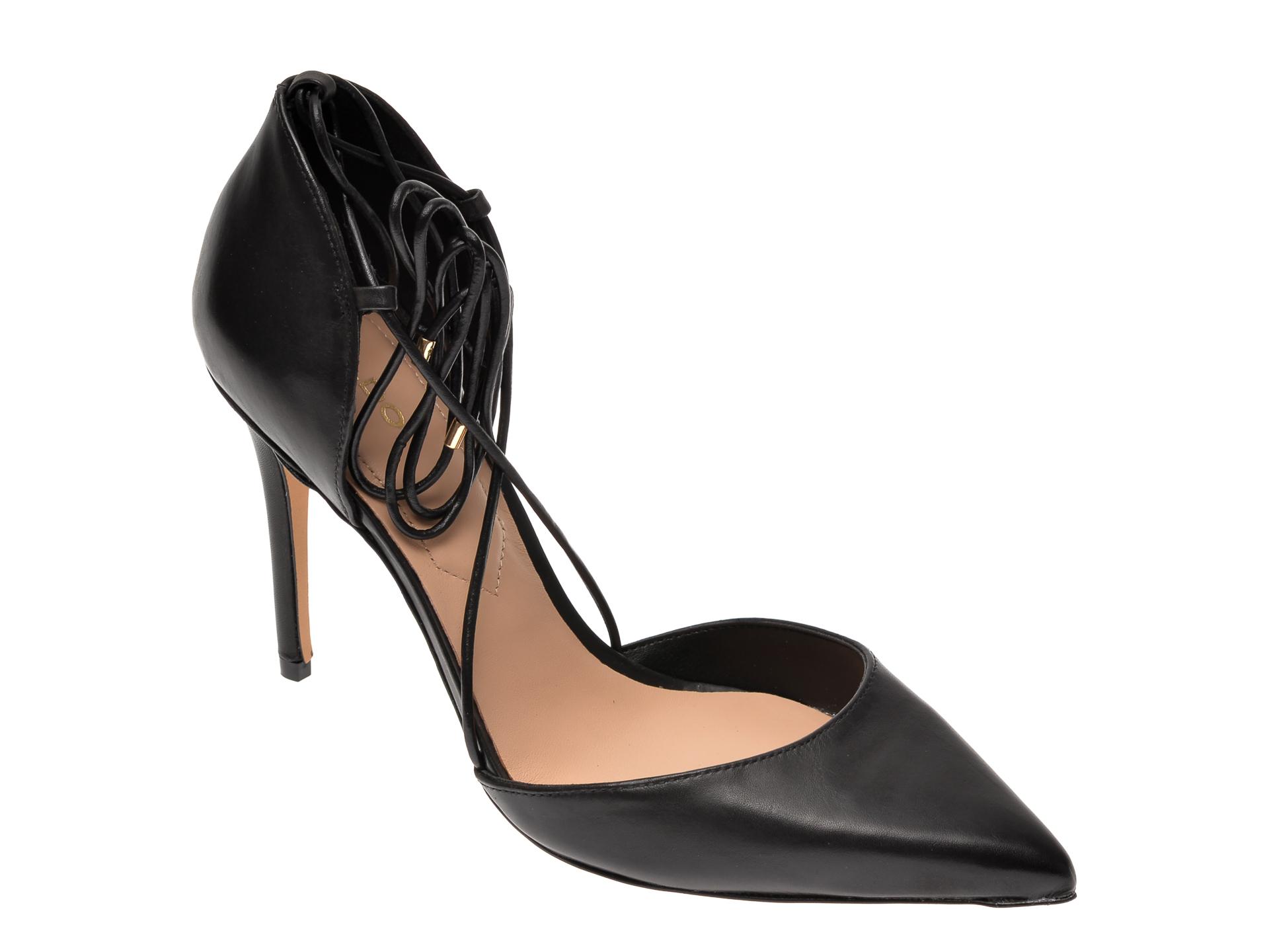 Pantofi ALDO negri, Finsbury001, din piele naturala imagine otter.ro