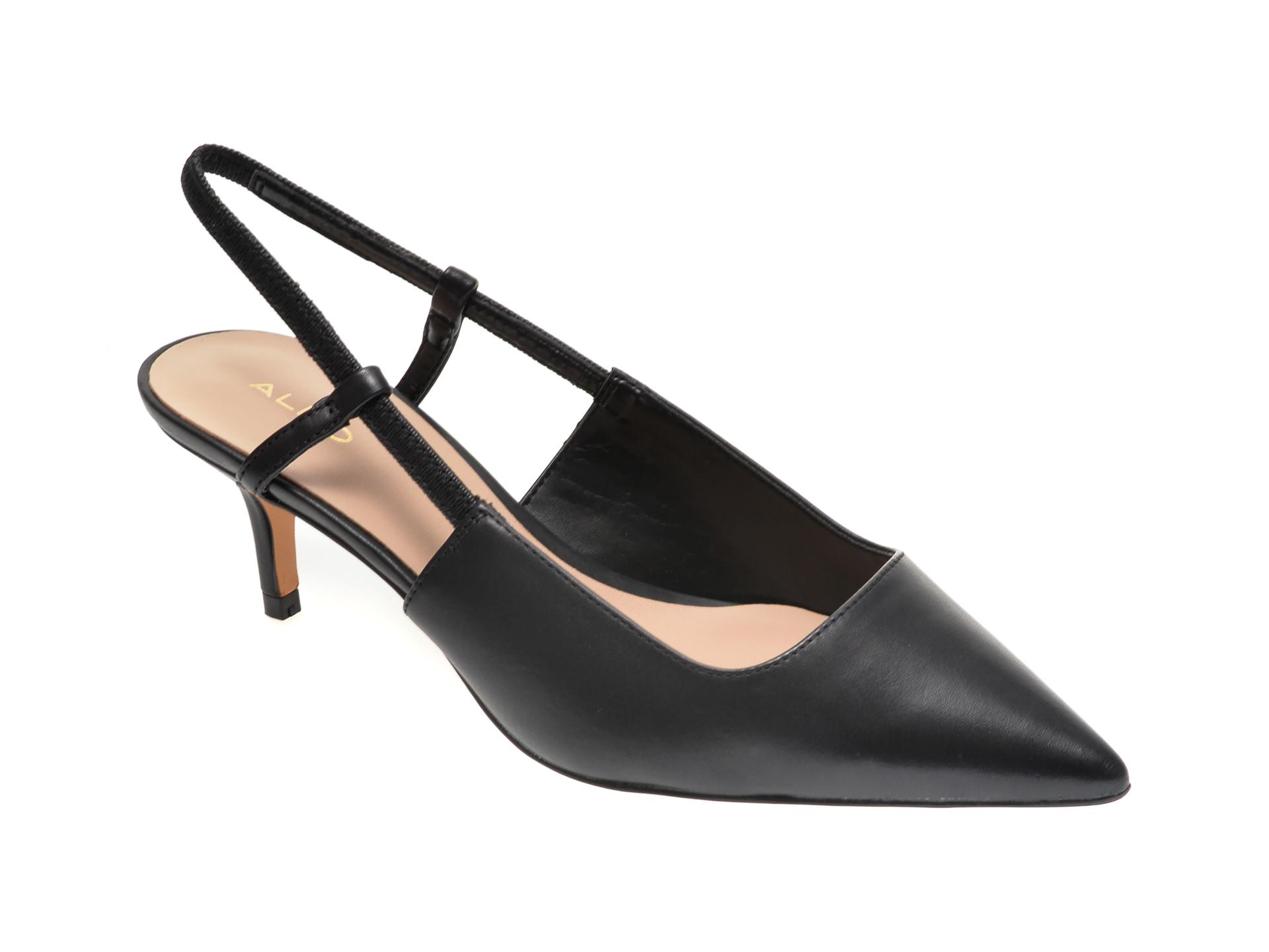 Pantofi ALDO negri, Melica001, din piele naturala imagine otter.ro