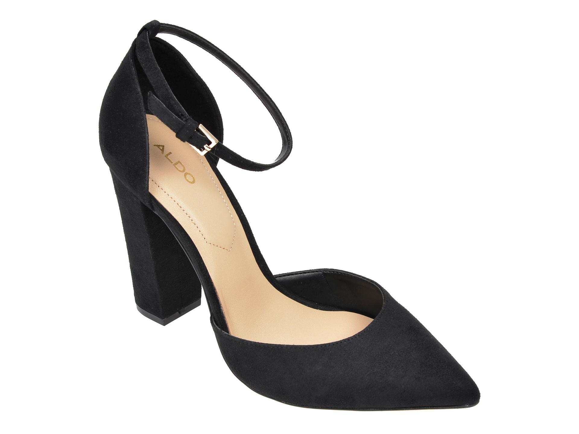 Pantofi ALDO negri, Nicholes001, din piele ecologica