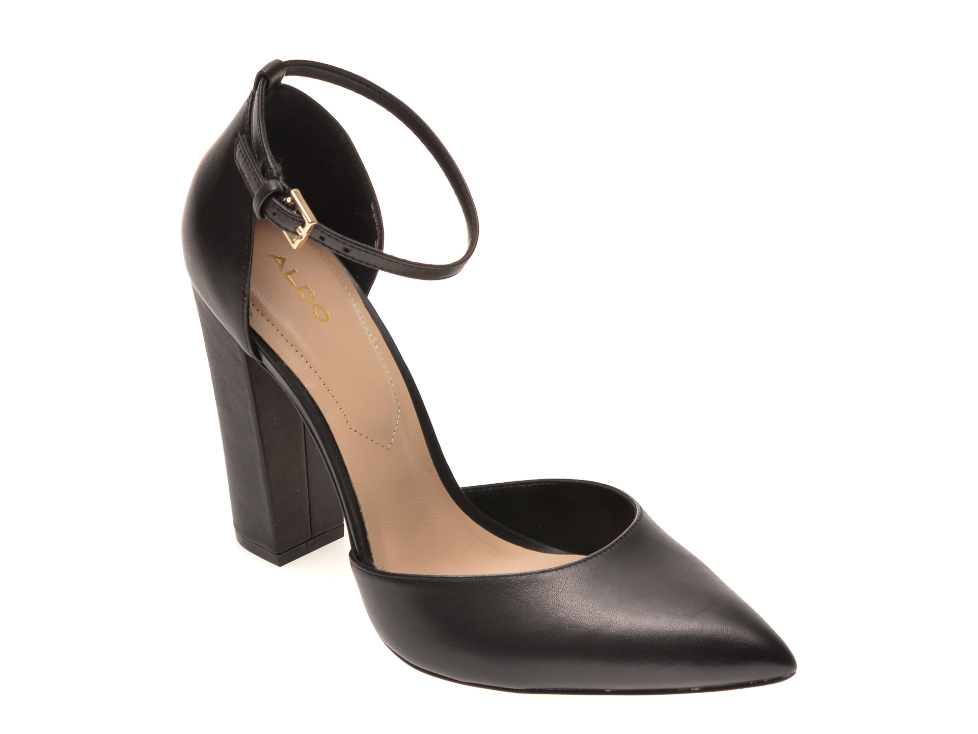 Pantofi ALDO negri, Nicholes001, din piele naturala imagine otter.ro 2021