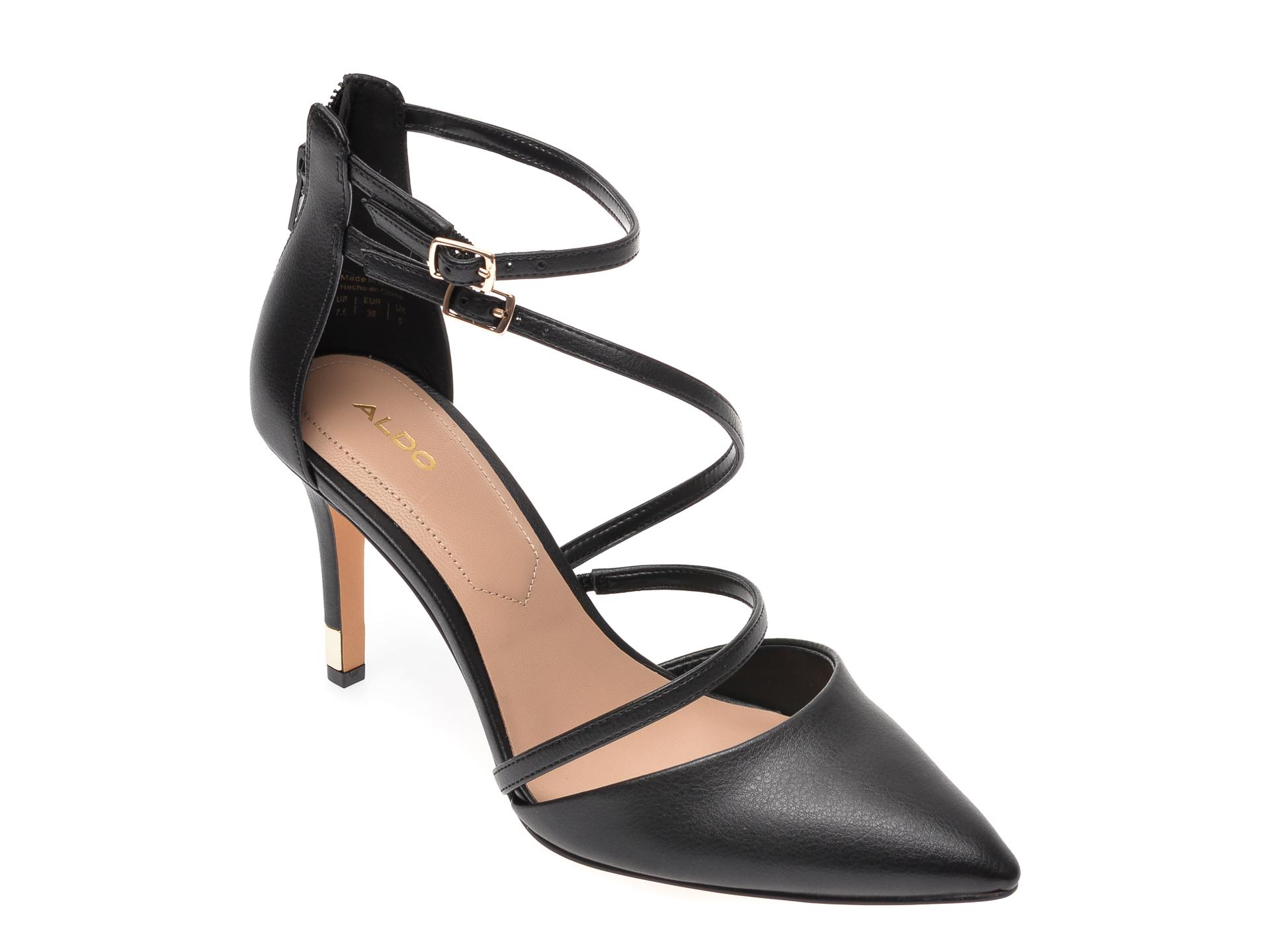 Pantofi ALDO negri, Torga001, din piele ecologica imagine otter.ro