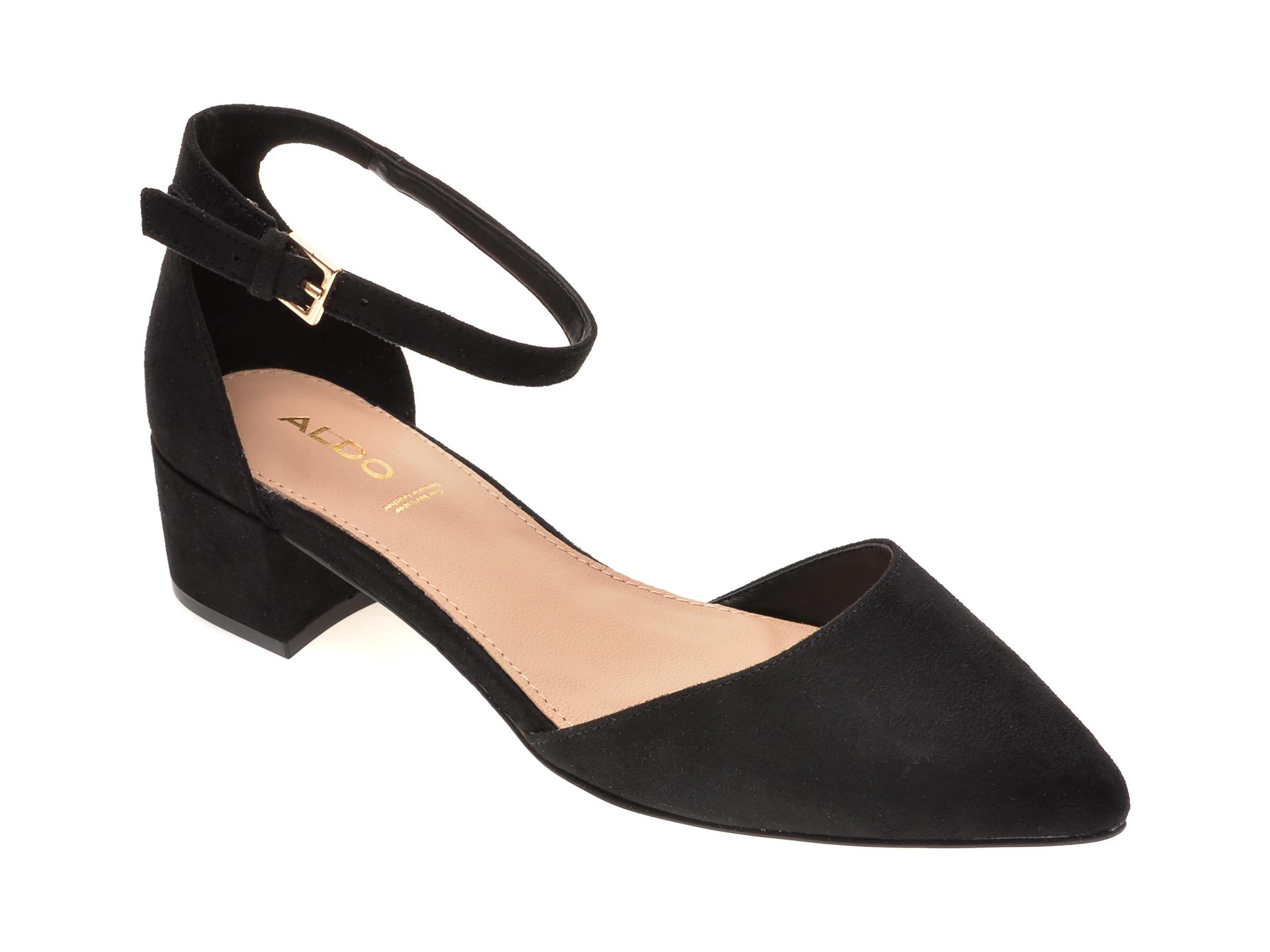 Pantofi ALDO negri, Zulian001, din piele ecologica imagine