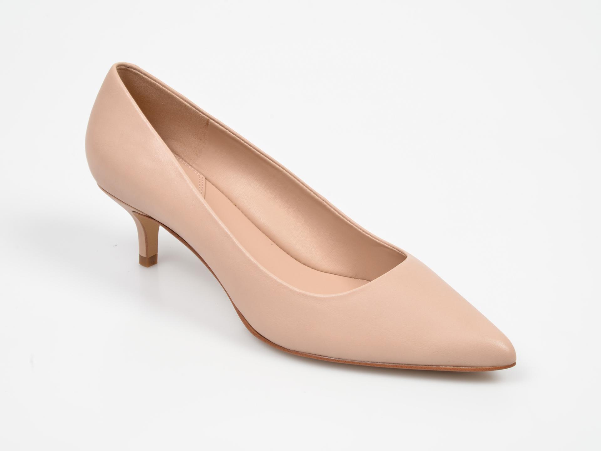 Pantofi ALDO nude Sieriaflex din piele naturala
