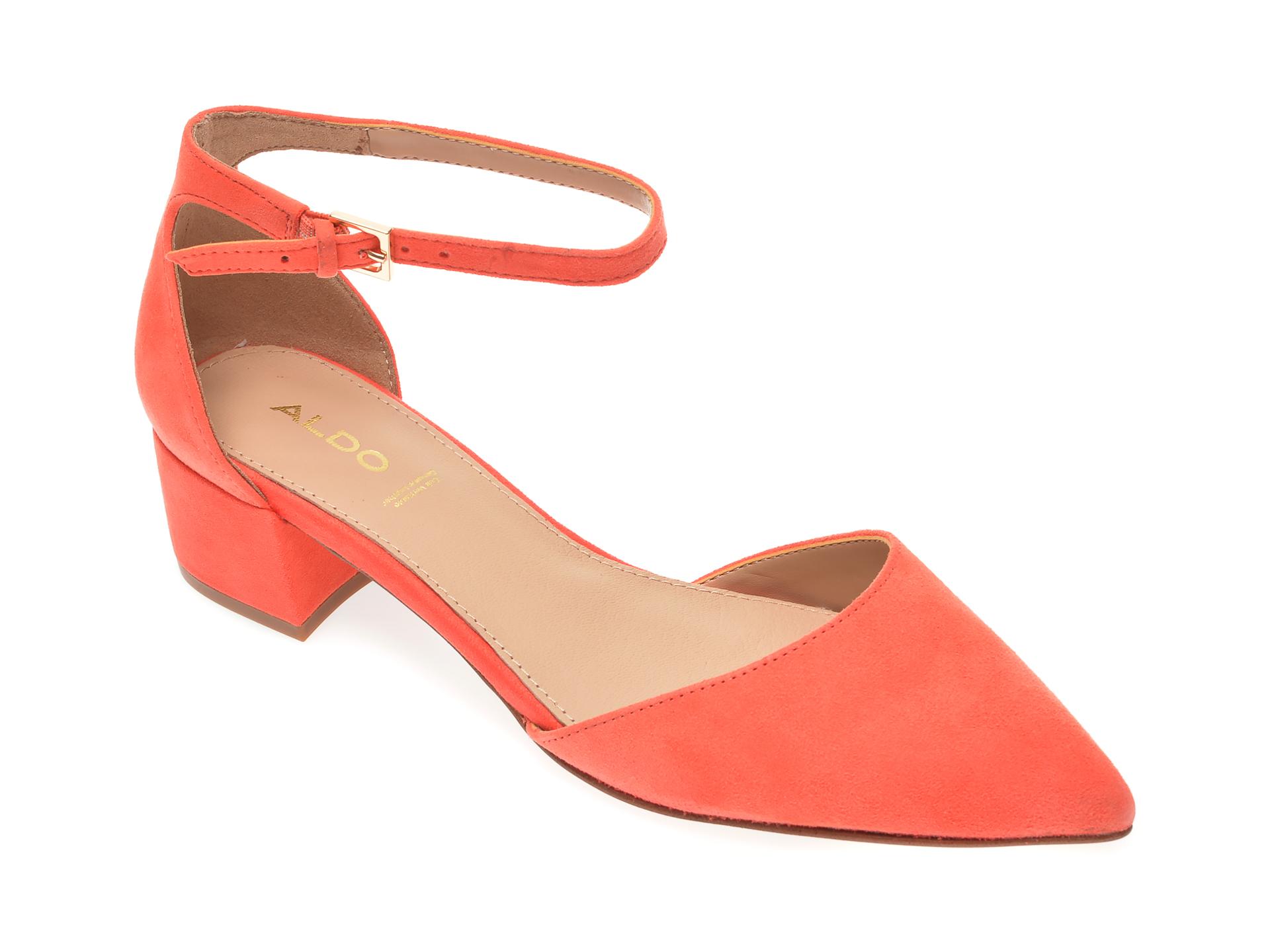 Pantofi ALDO portocalii, Zulian840, din piele intoarsa