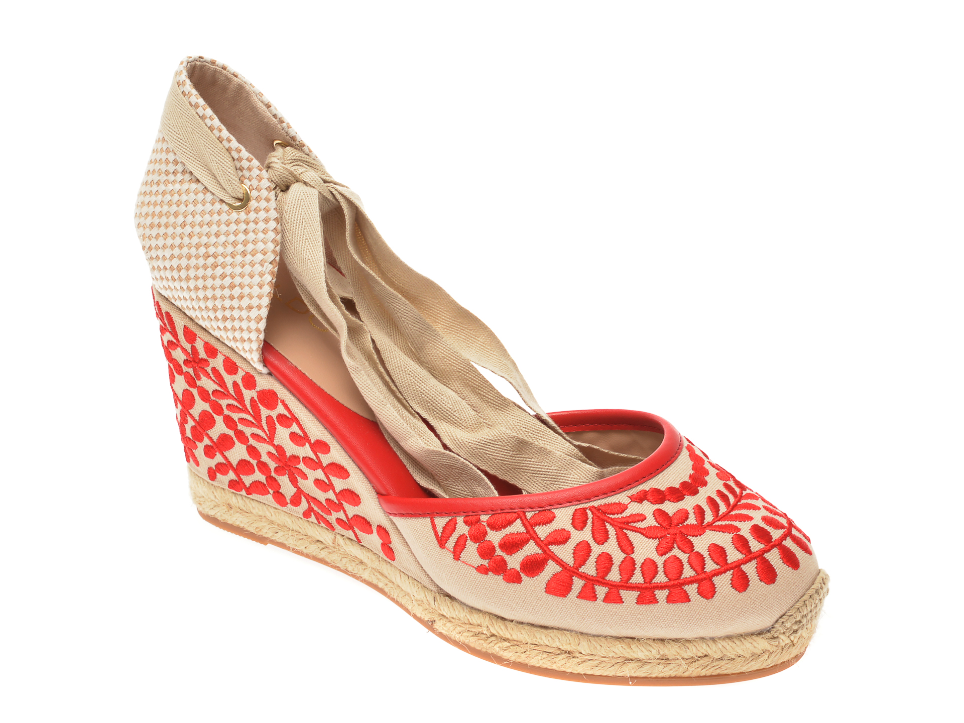 Pantofi ALDO rosii, Muschino600, din material textil imagine otter.ro