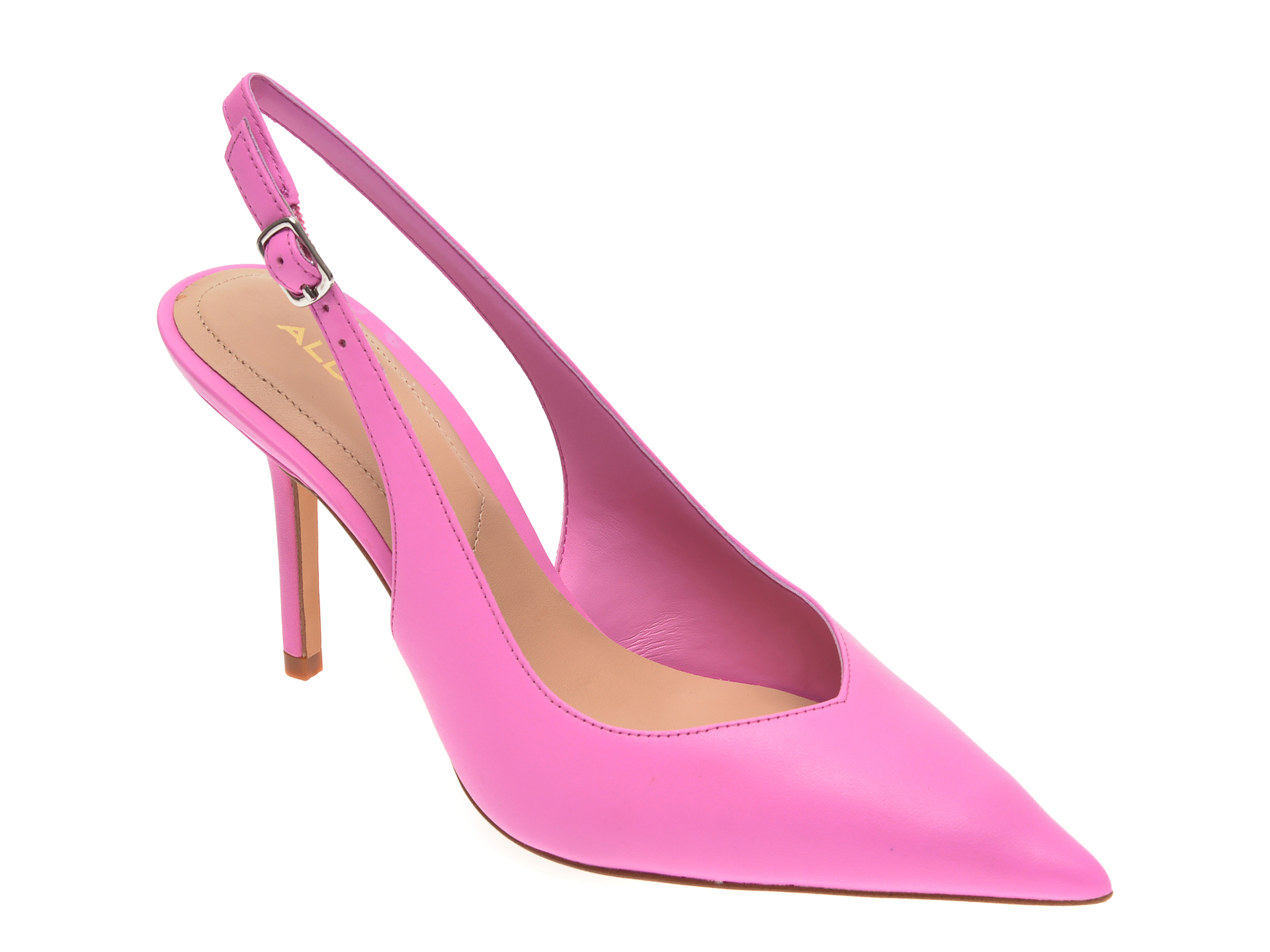 Pantofi ALDO roz, Julietta680, din piele naturala