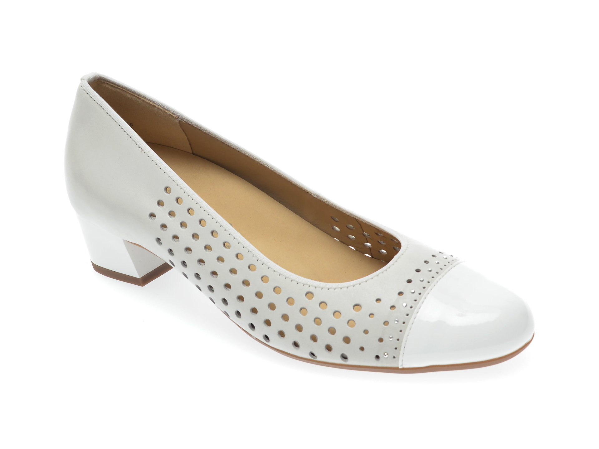 Pantofi ARA albi, 35803, din piele naturala New