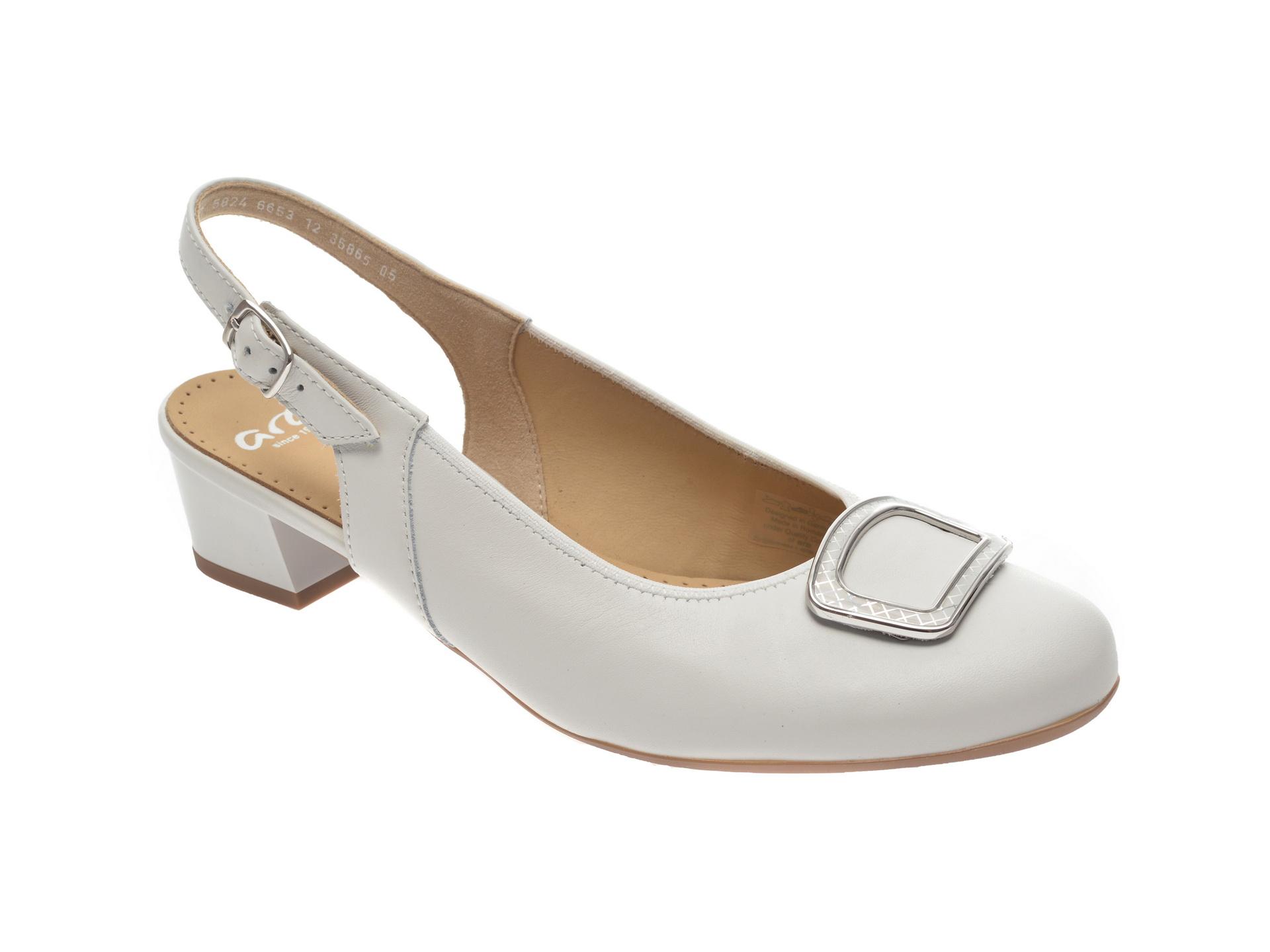Pantofi ARA albi, 35865, din piele naturala imagine