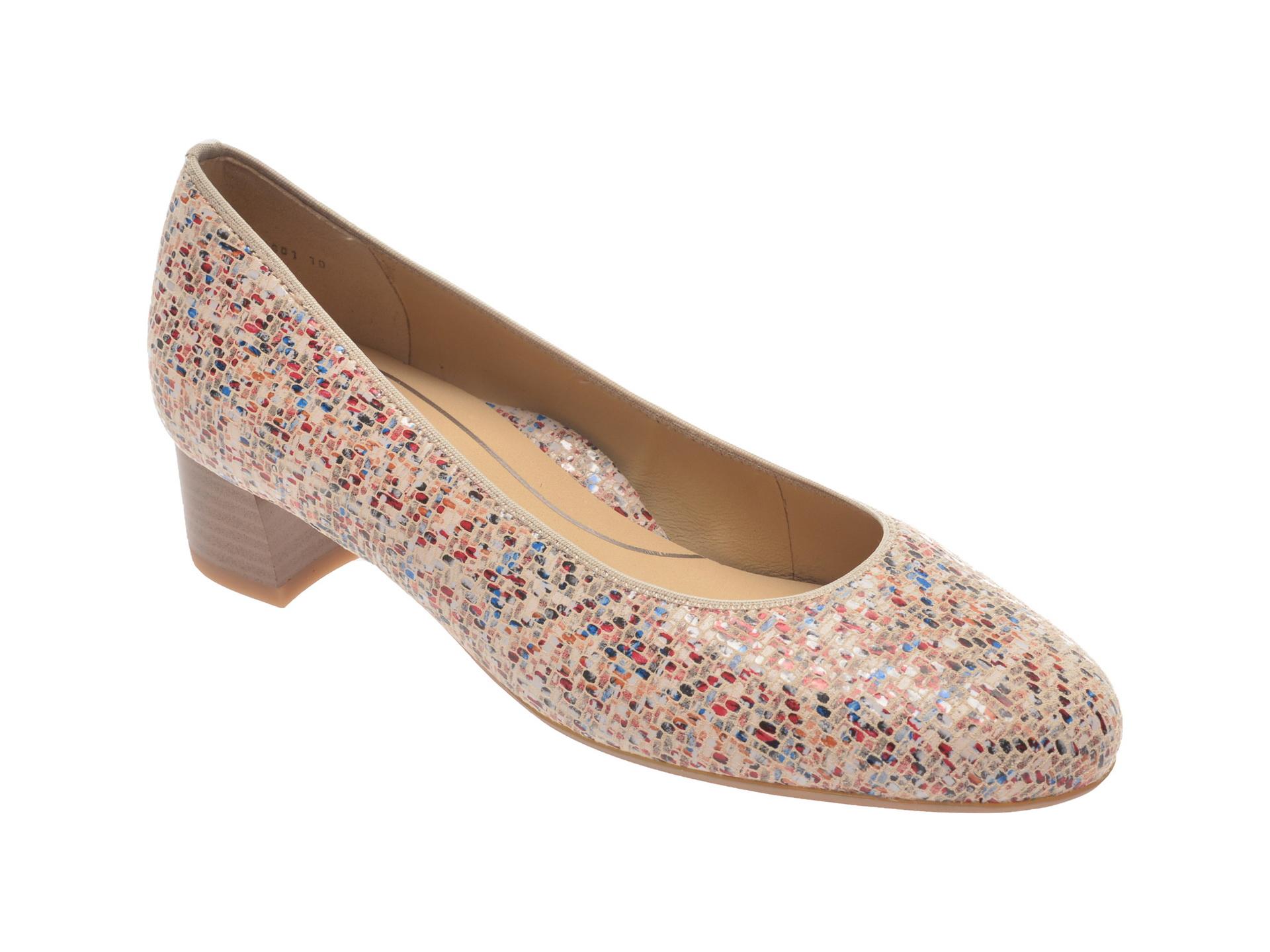 Pantofi ARA bej, 16601, din piele naturala imagine