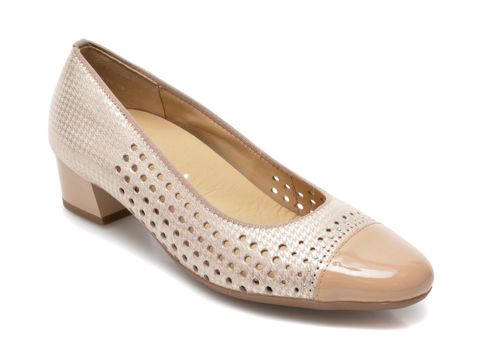 Pantofi ARA bej, 35803, din piele intoarsa imagine otter.ro 2021