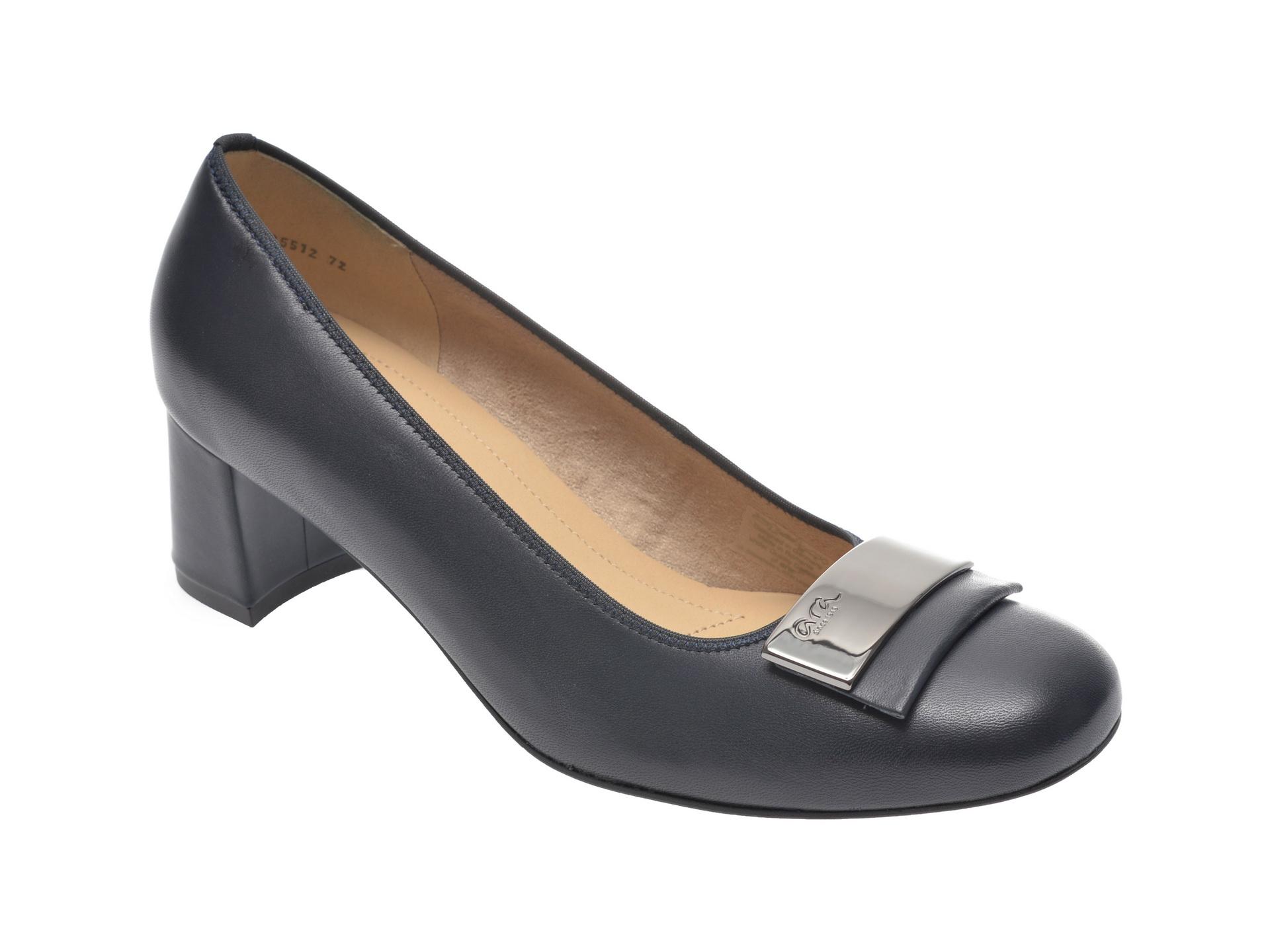 Pantofi ARA bleumarin, 35512, din piele naturala imagine