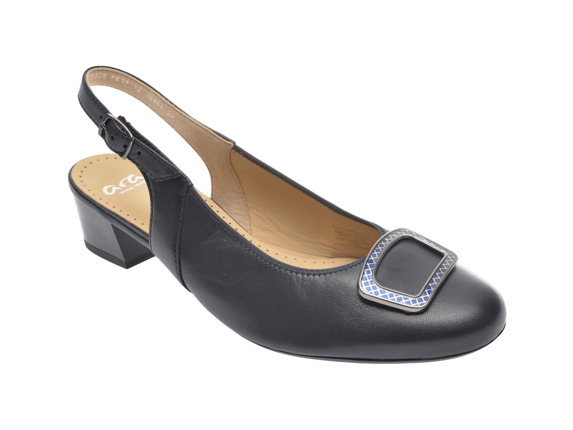 Pantofi ARA bleumarin, 35865, din piele naturala imagine