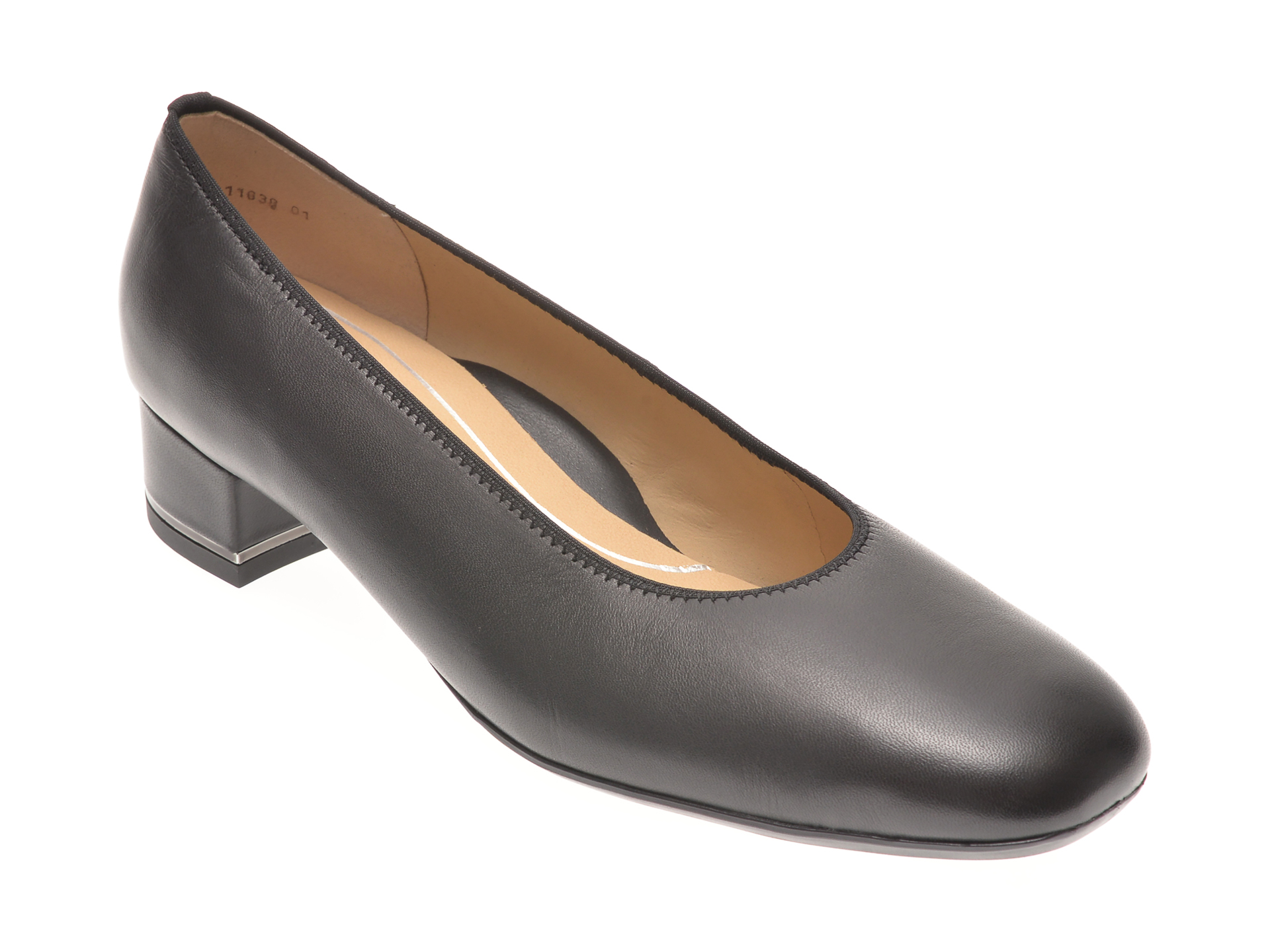 Pantofi ARA negri, 11838, din piele naturala New