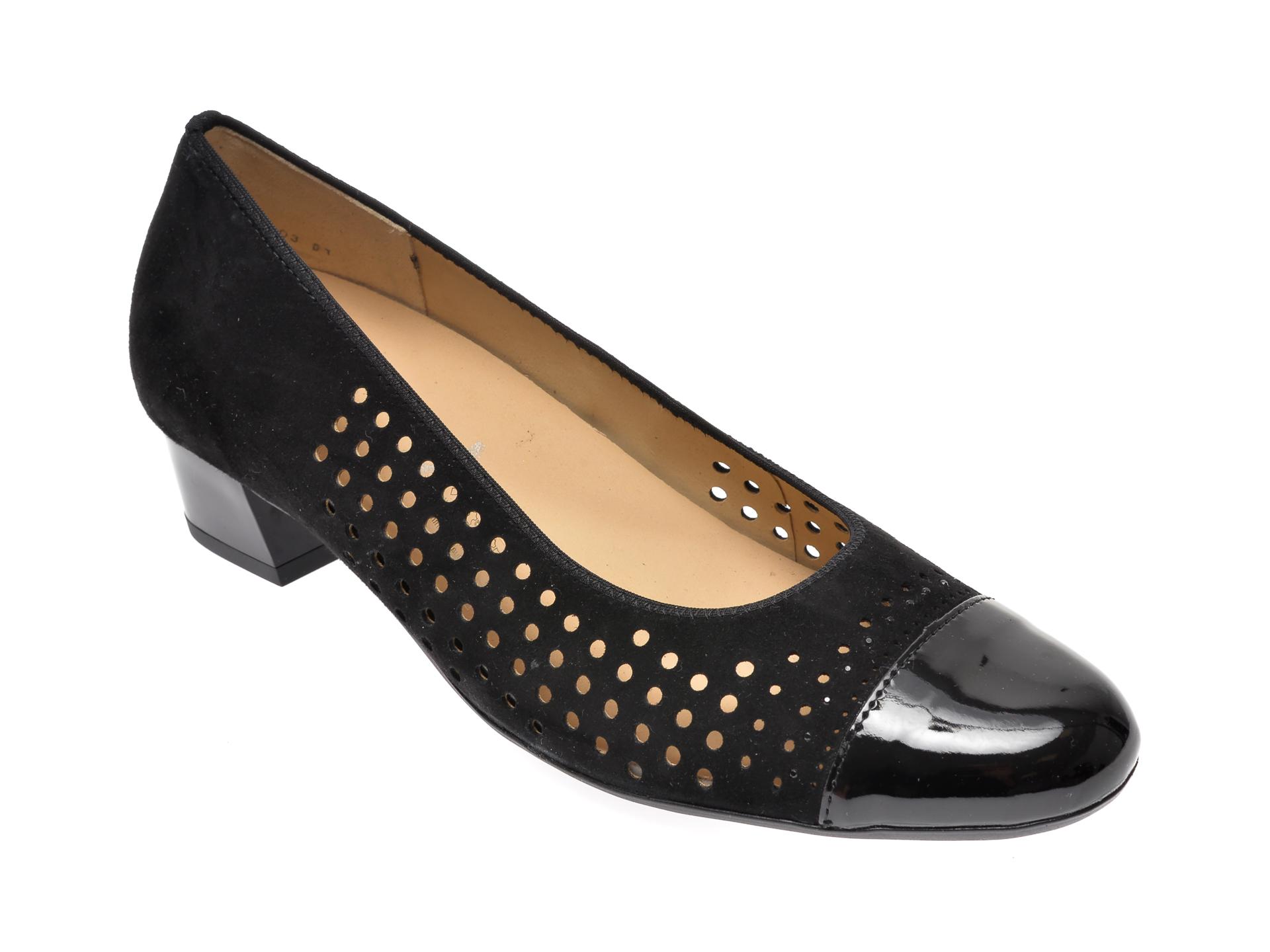 Pantofi ARA negri, 35803, din piele intoarsa