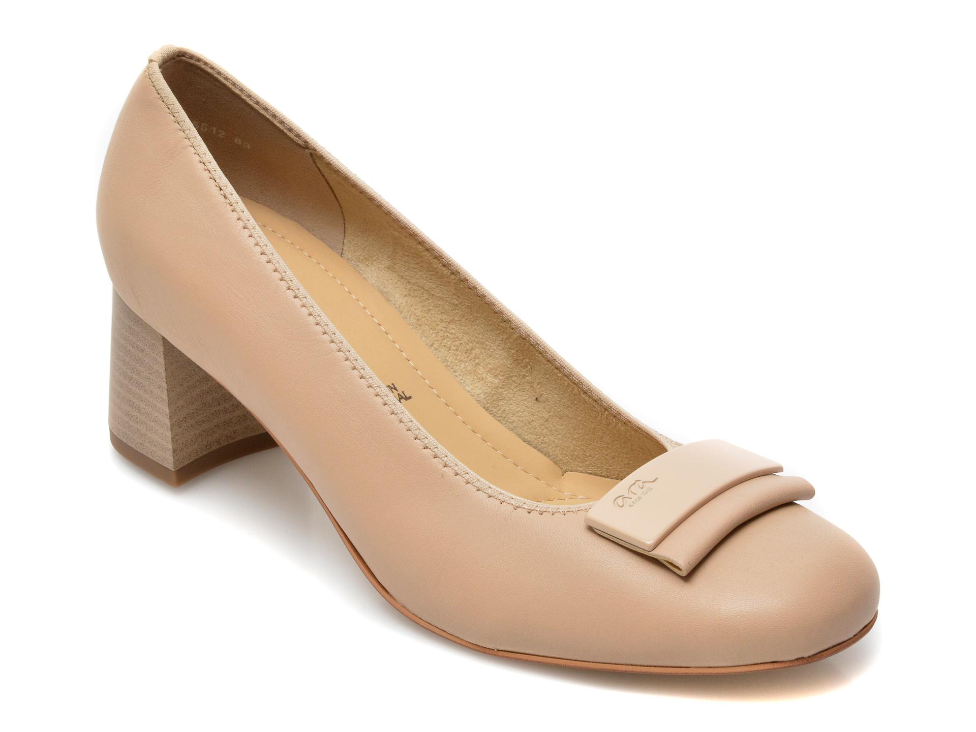 Pantofi ARA nude, 35512, din piele naturala imagine otter.ro 2021