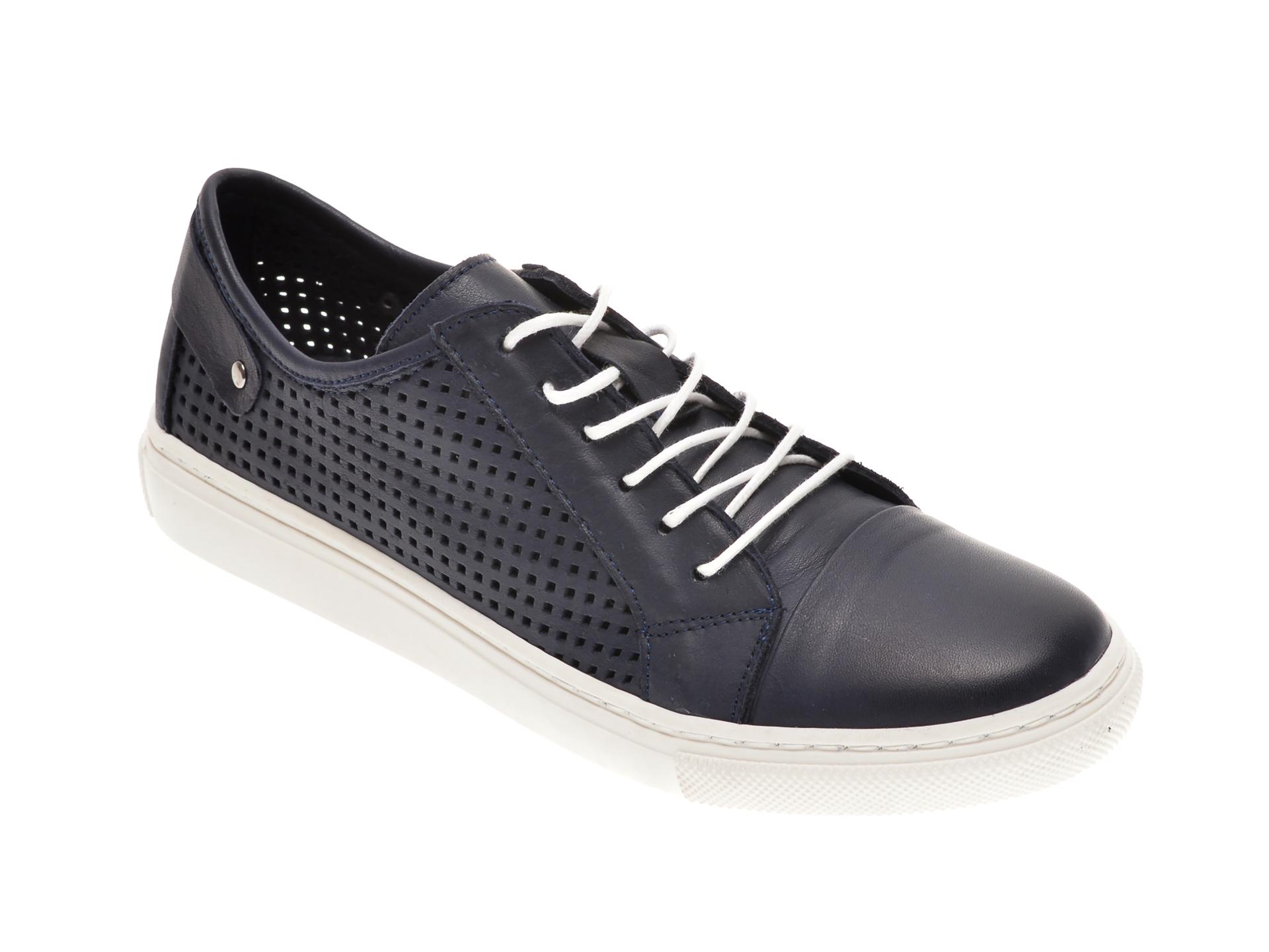 Pantofi BABOOS albastri, R12, din piele naturala imagine