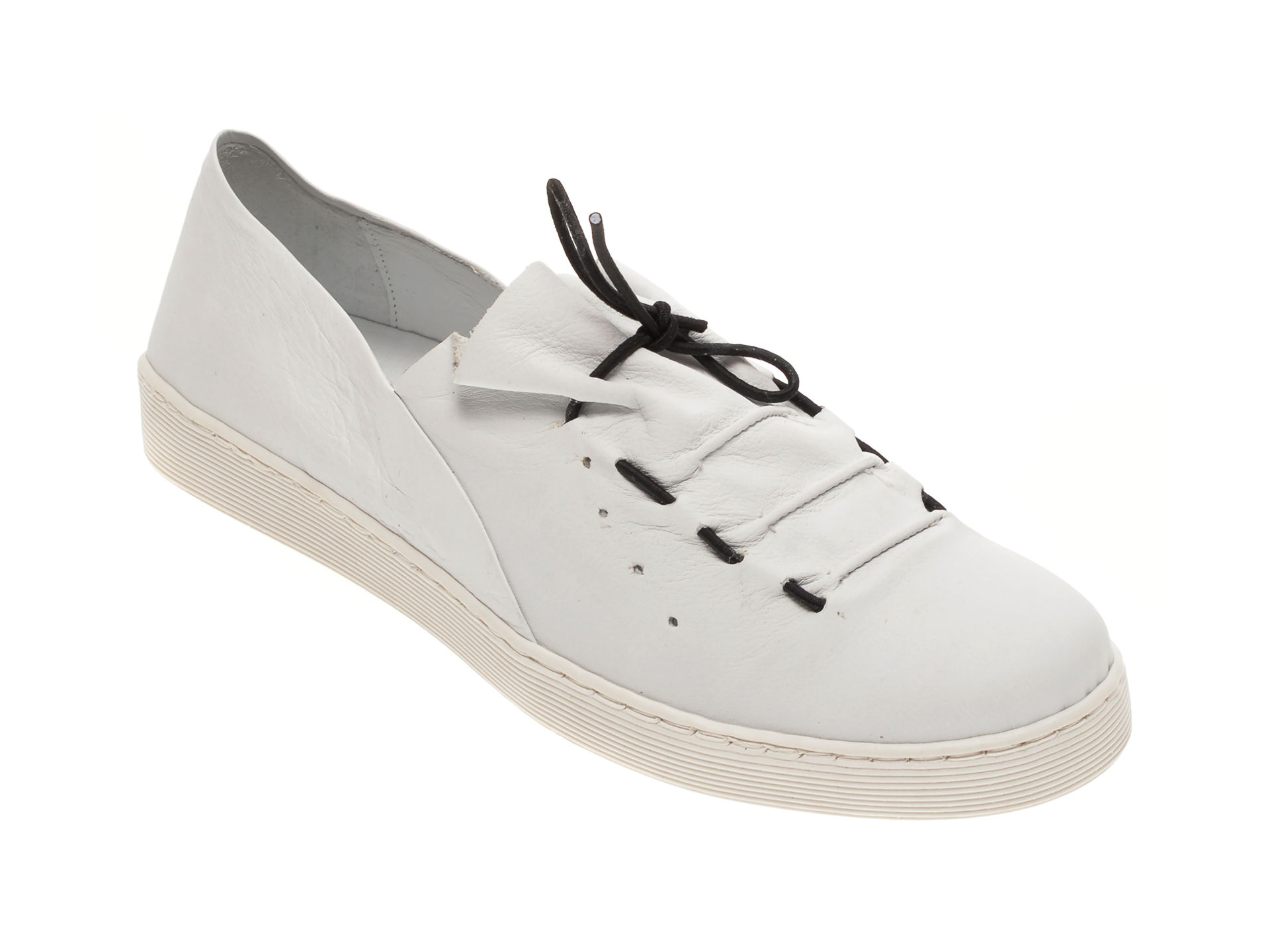 Pantofi BABOOS albi, R09, din piele naturala