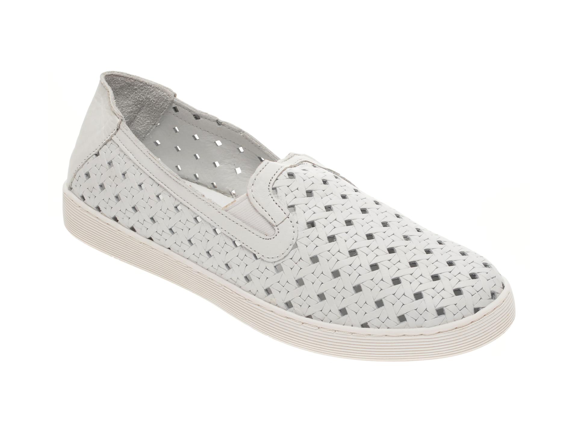 Pantofi BABOOS albi, R11, din piele naturala New