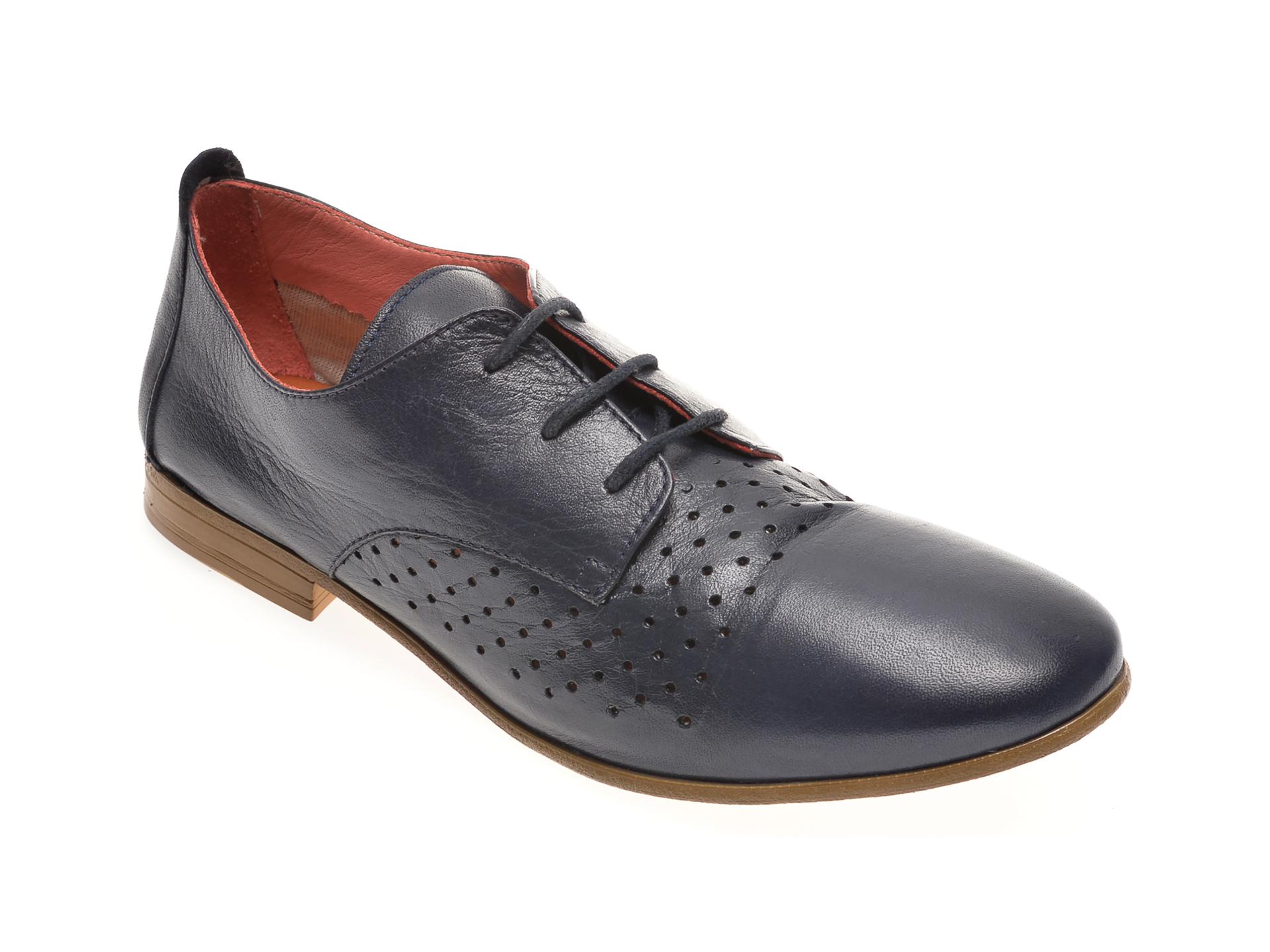 Pantofi BABOOS bleumarin, 1106, din piele naturala imagine