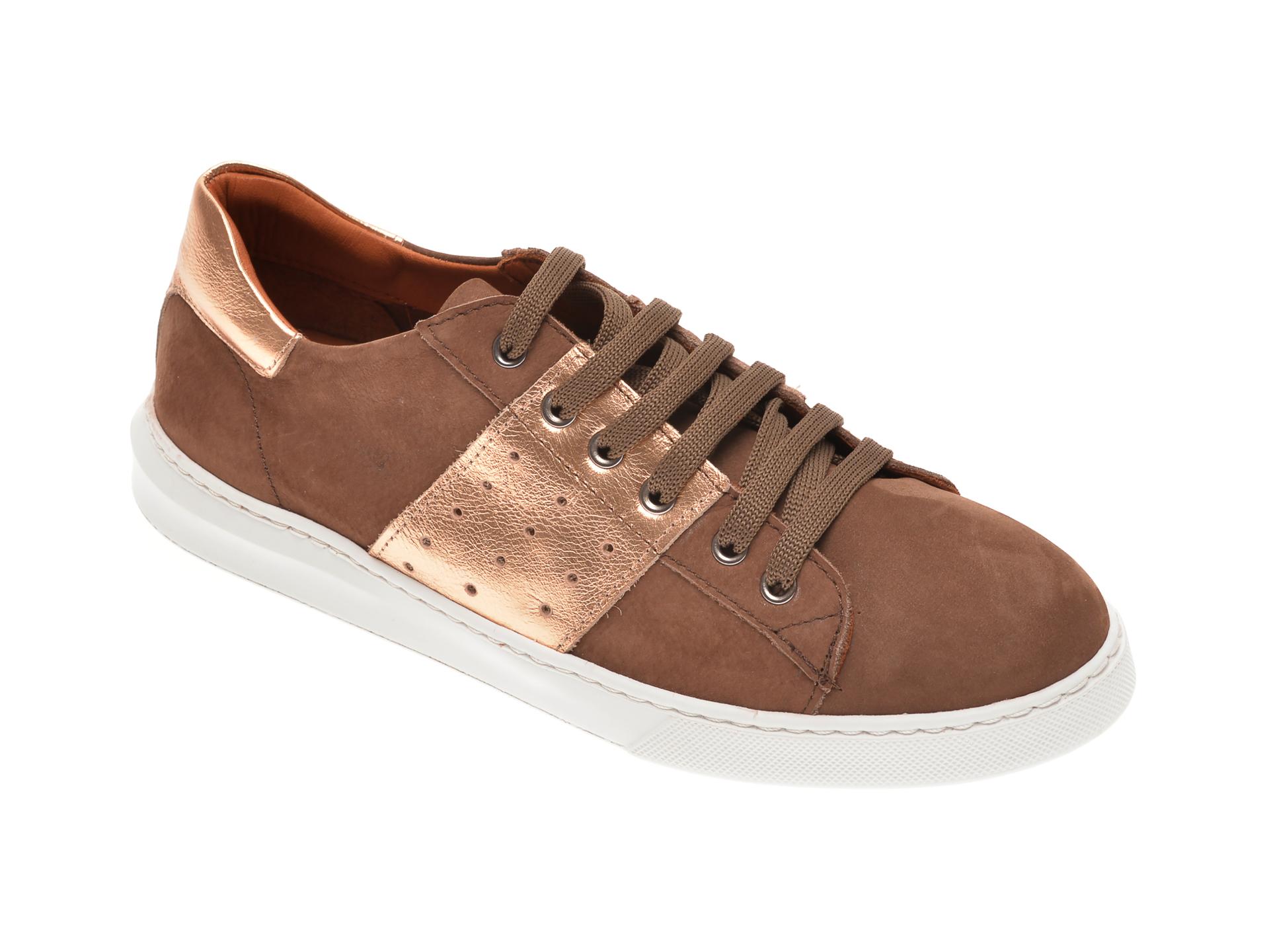 Pantofi BABOOS maro, 2303, din piele naturala imagine