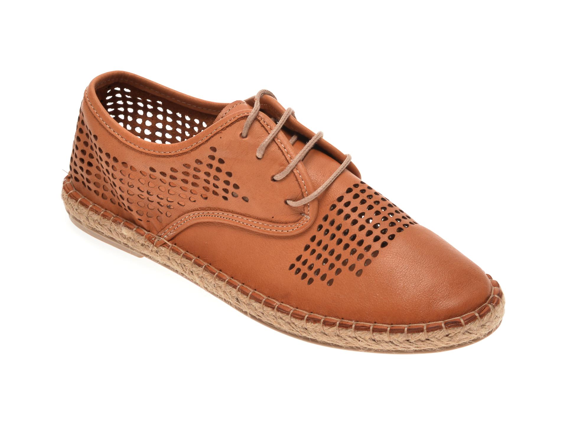 Pantofi BABOOS maro, R03, din piele naturala imagine