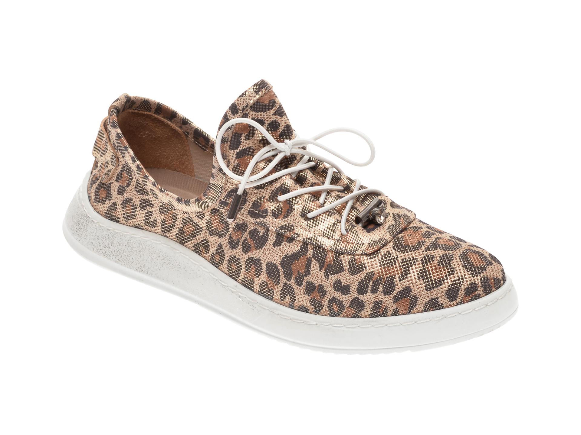 Pantofi BABOOS multicolor, 0908, din piele naturala