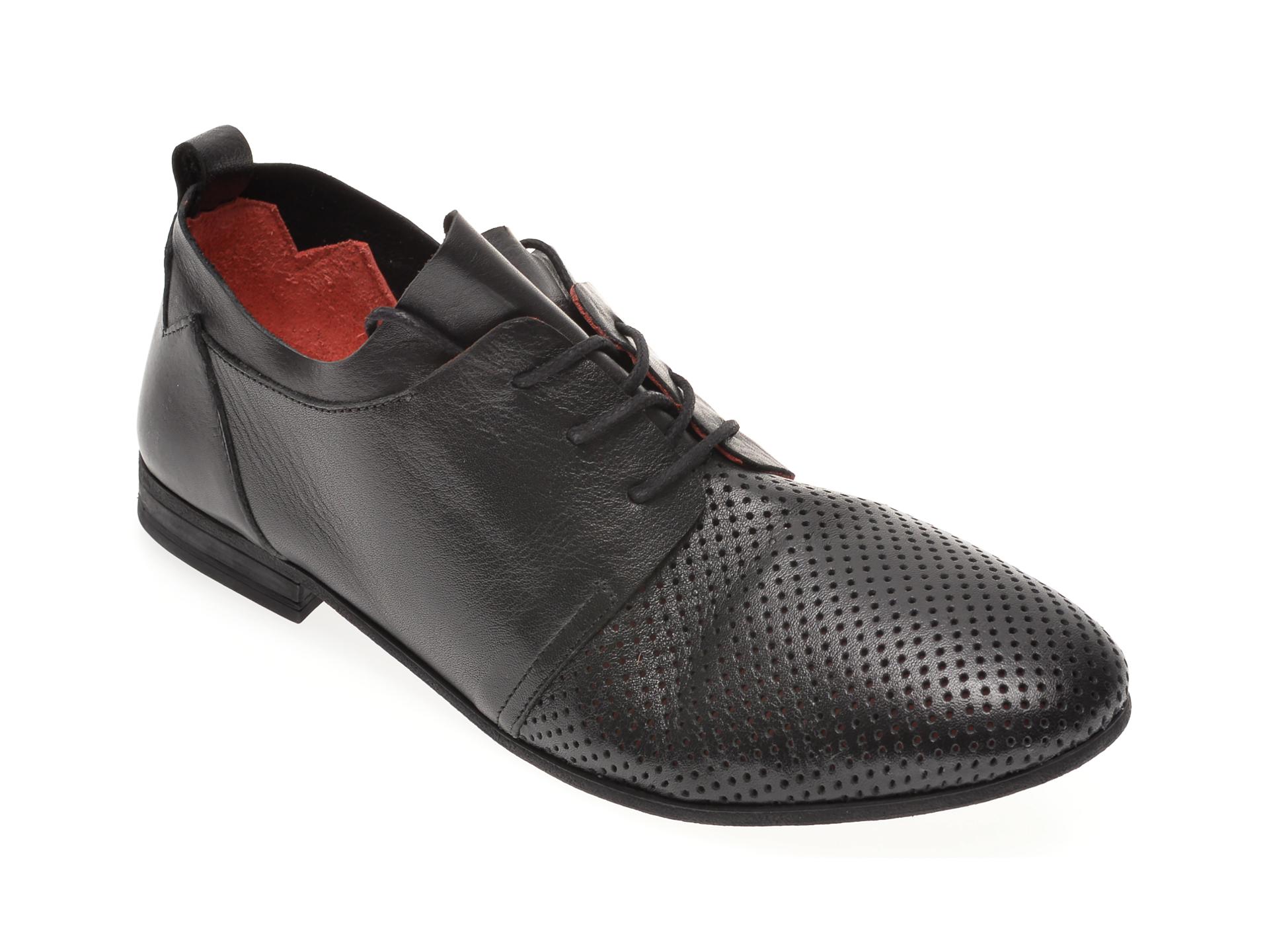 Pantofi BABOOS negri, 1105, din piele naturala