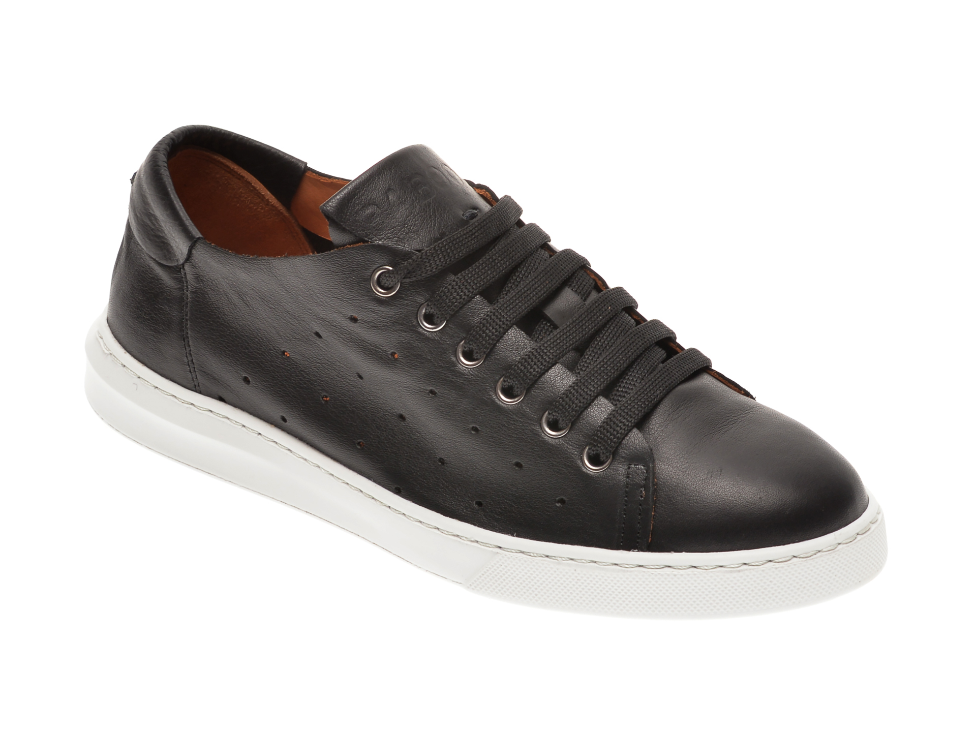 Pantofi BABOOS negri, 2301, din piele naturala