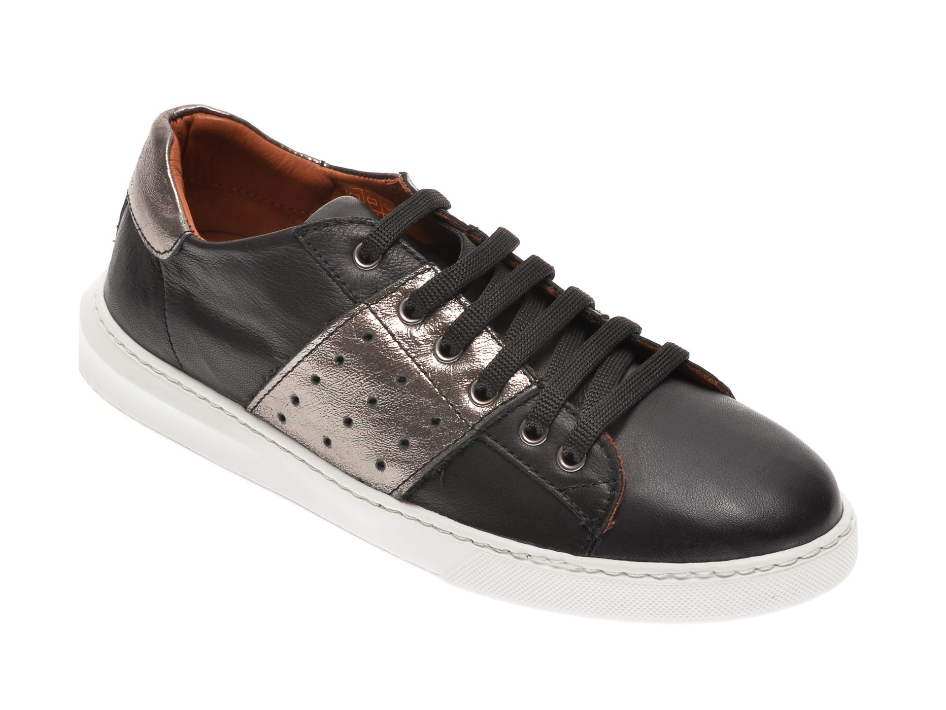 Pantofi BABOOS negri, 2303, din piele naturala New