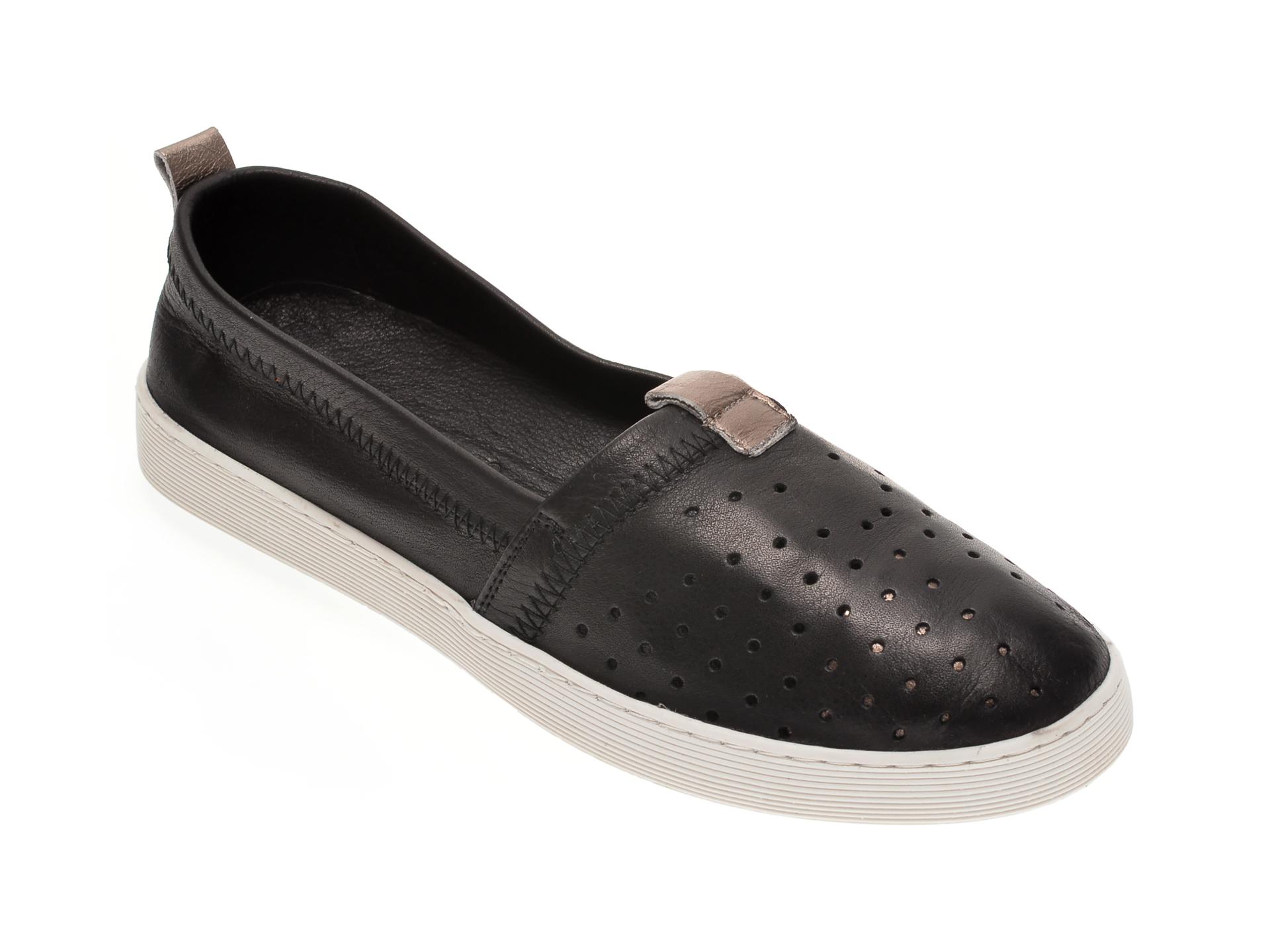 Pantofi BABOOS negri, R10, din piele naturala