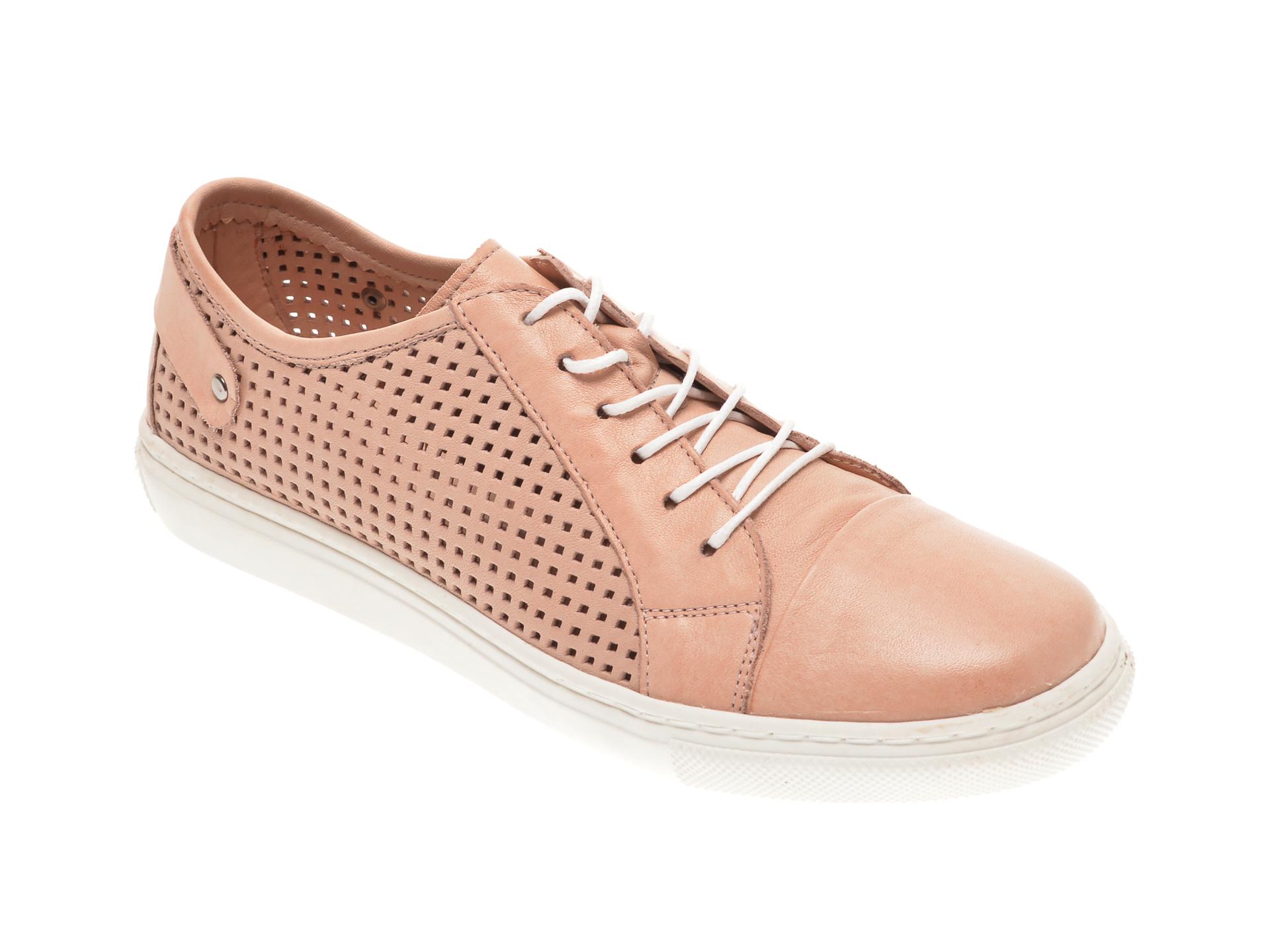 Pantofi BABOOS nude, R12, din piele naturala