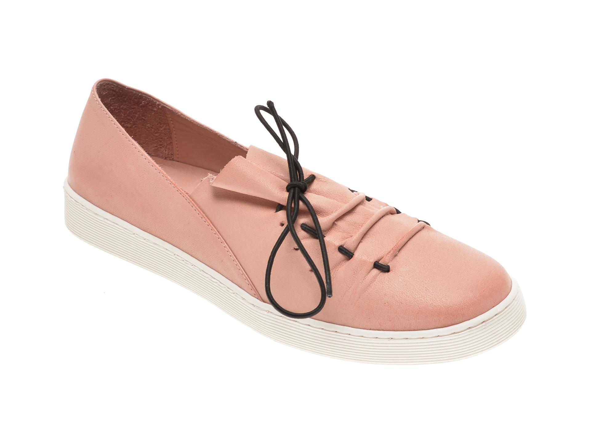 Pantofi BABOOS roz, R09, din piele naturala