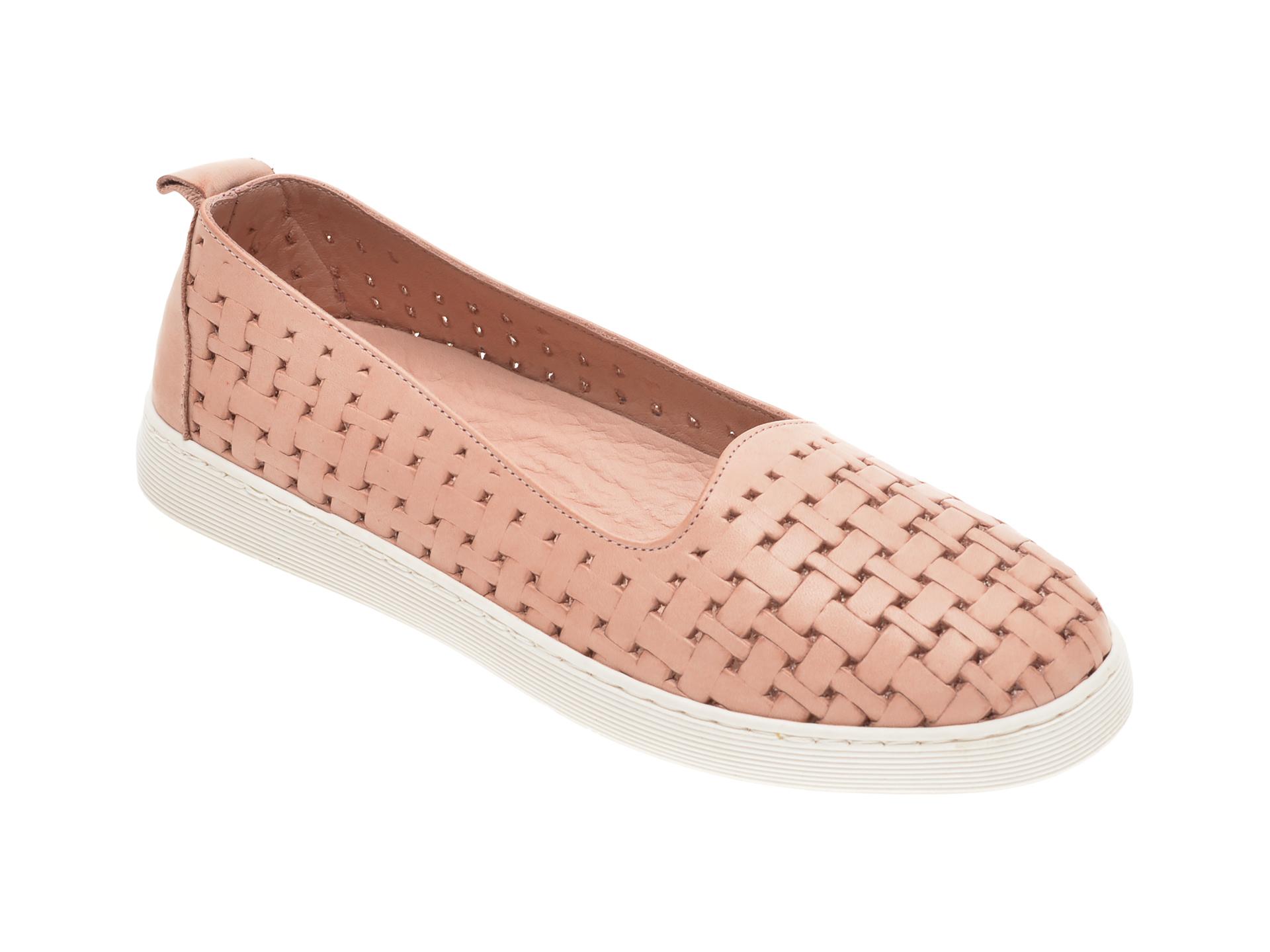 Pantofi BABOOS roz, R13, din piele naturala