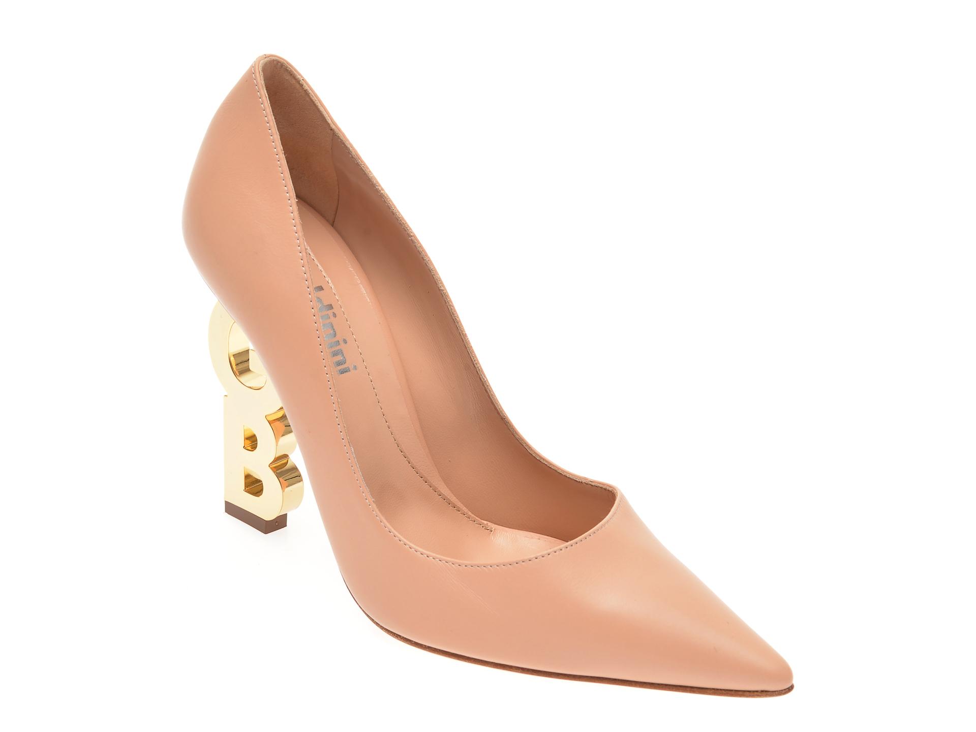 Pantofi BALDININI bej, 057523, din piele naturala
