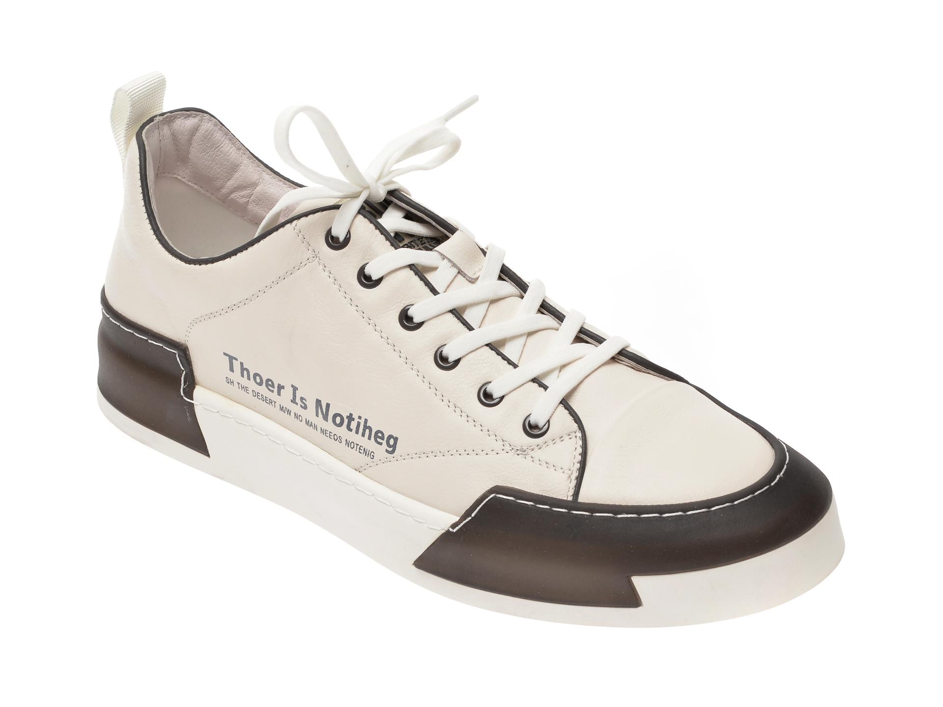 Pantofi BITE THE BULLET albi, 22069, din piele naturala imagine