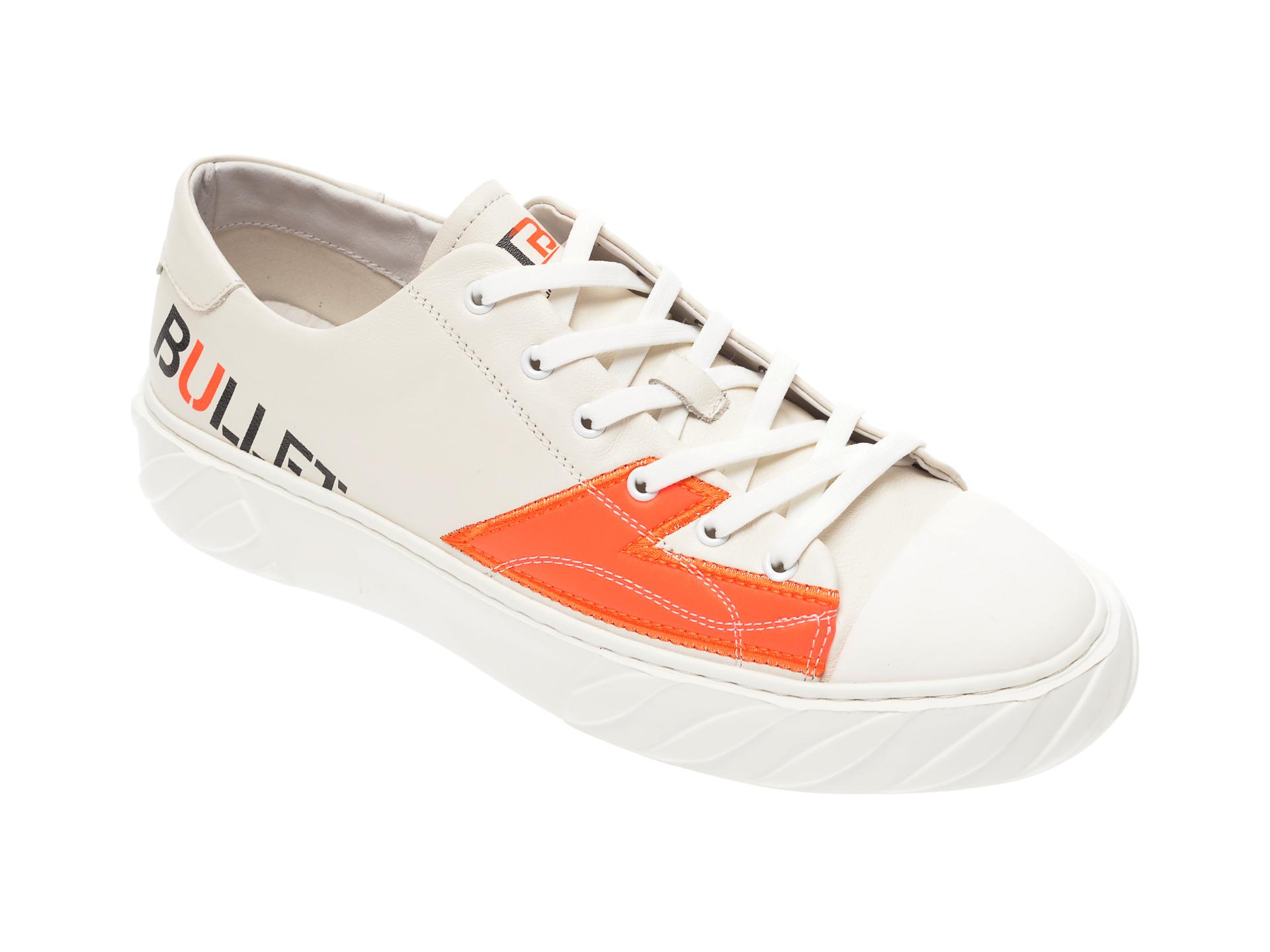 Pantofi BITE THE BULLET albi, 9669292, din piele naturala imagine