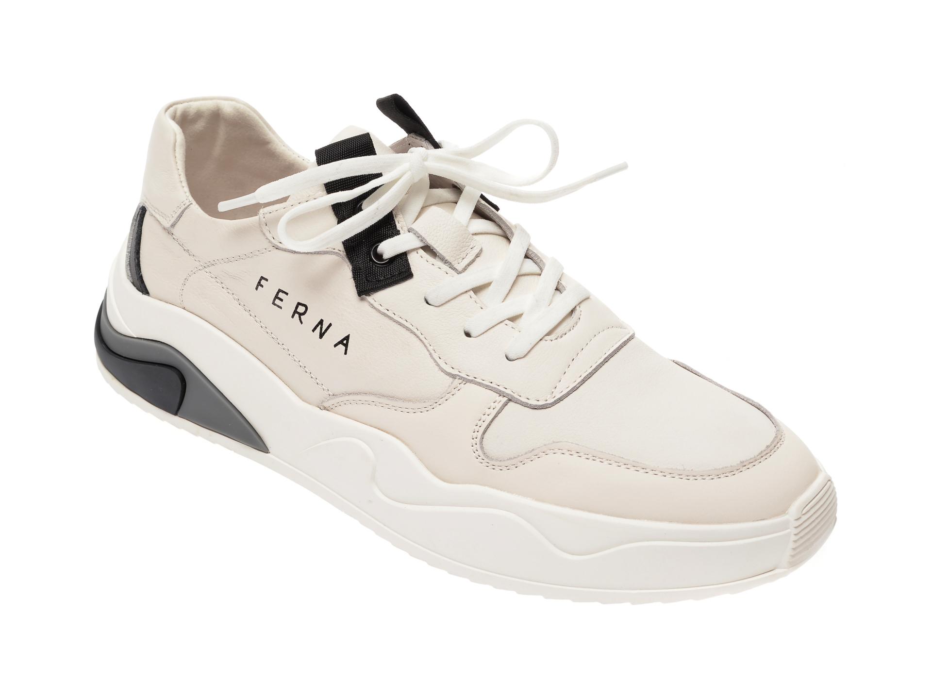 Pantofi BITE THE BULLET albi, HL, din piele naturala imagine