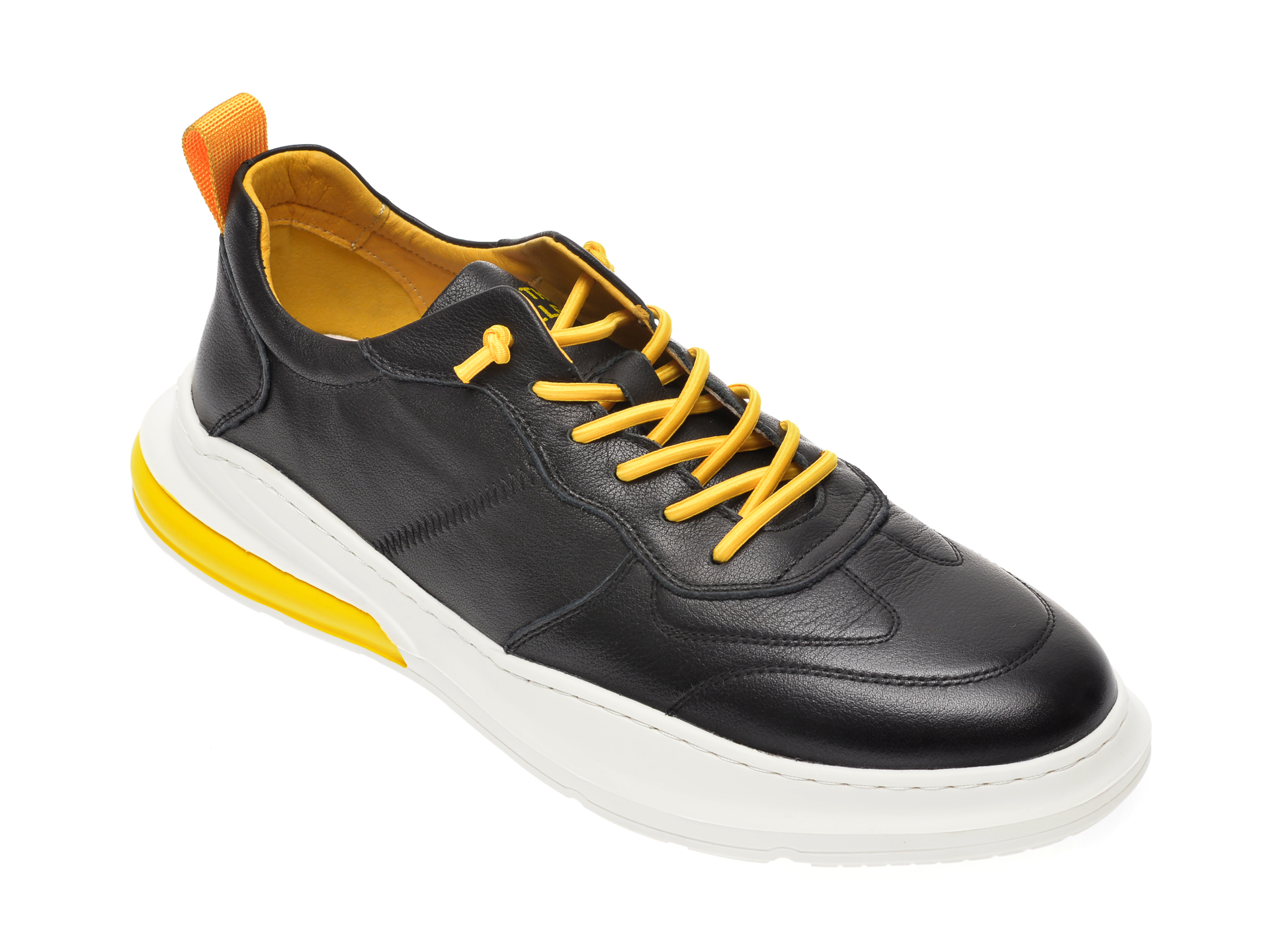 Pantofi BITE THE BULLET negri, 9316055, din piele naturala