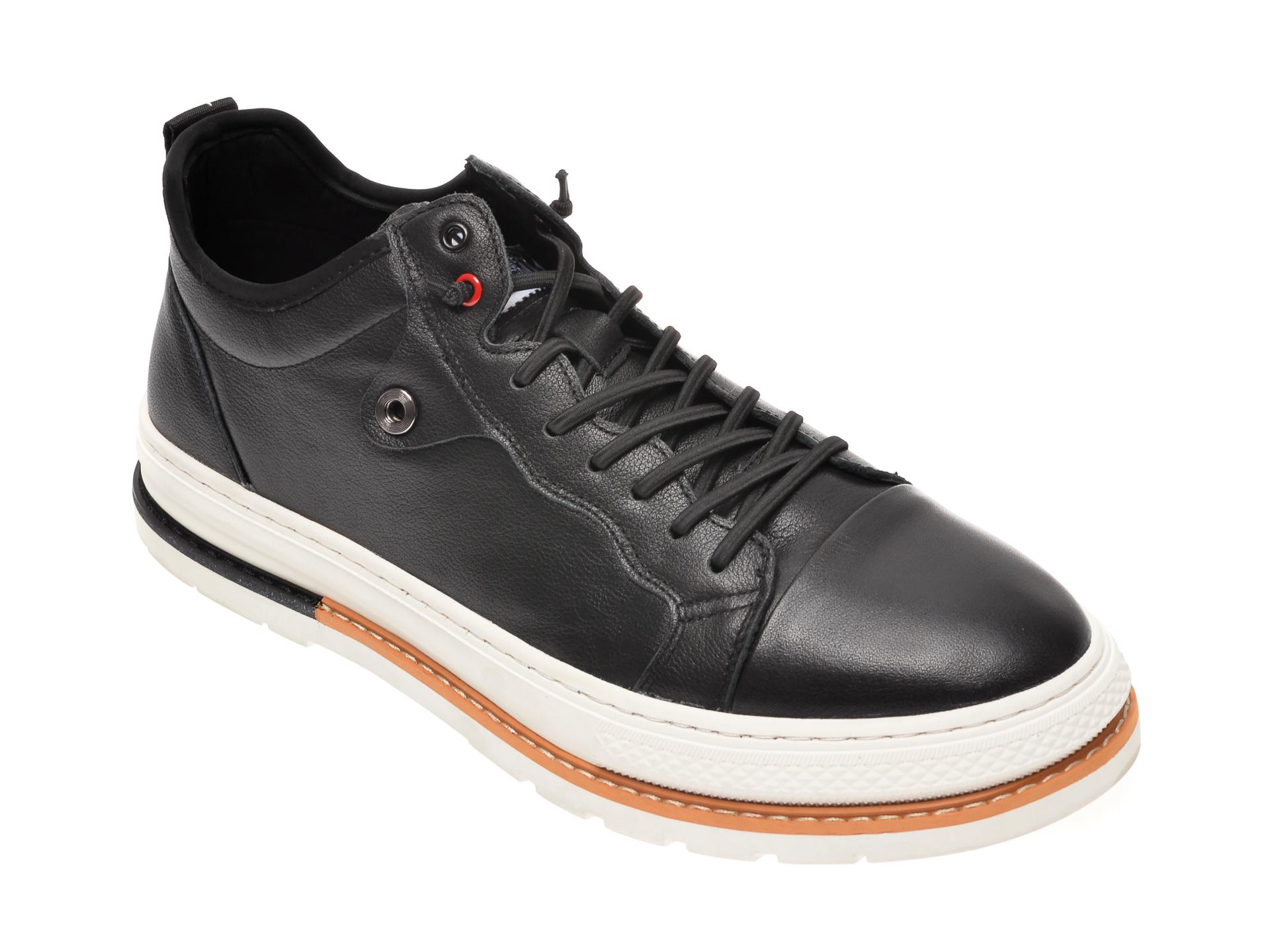 Pantofi BITE THE BULLET negri, 938323, din piele naturala imagine