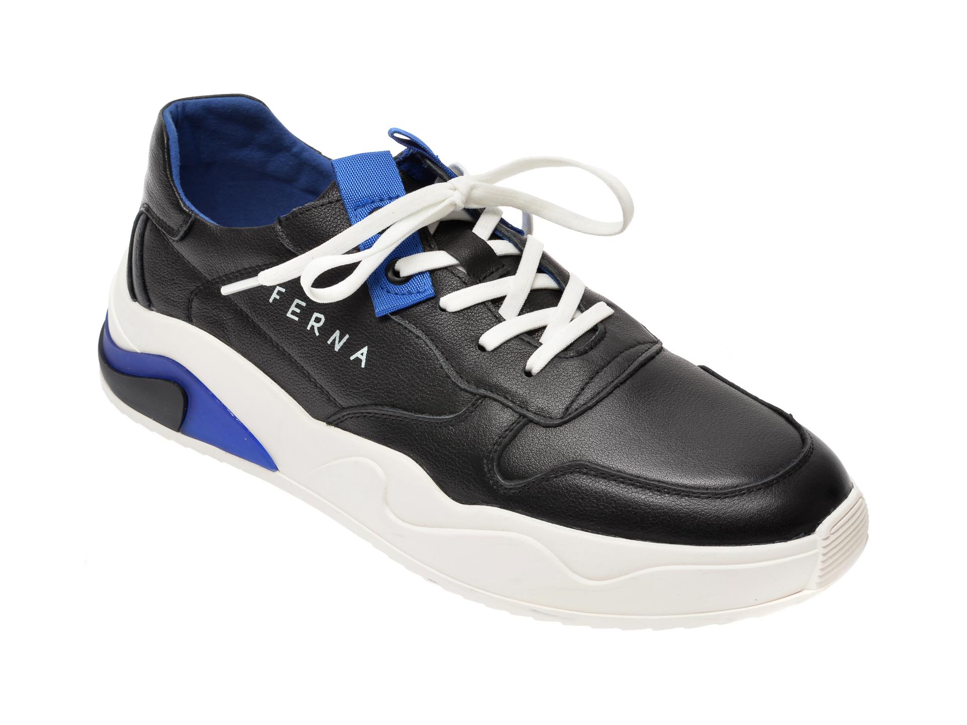 Pantofi BITE THE BULLET negri, HL, din piele naturala imagine